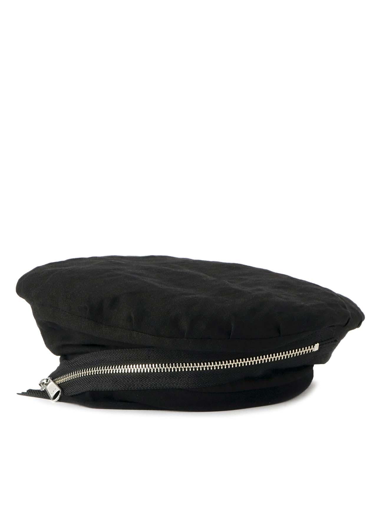 リネンクロス ギャザーベレー帽