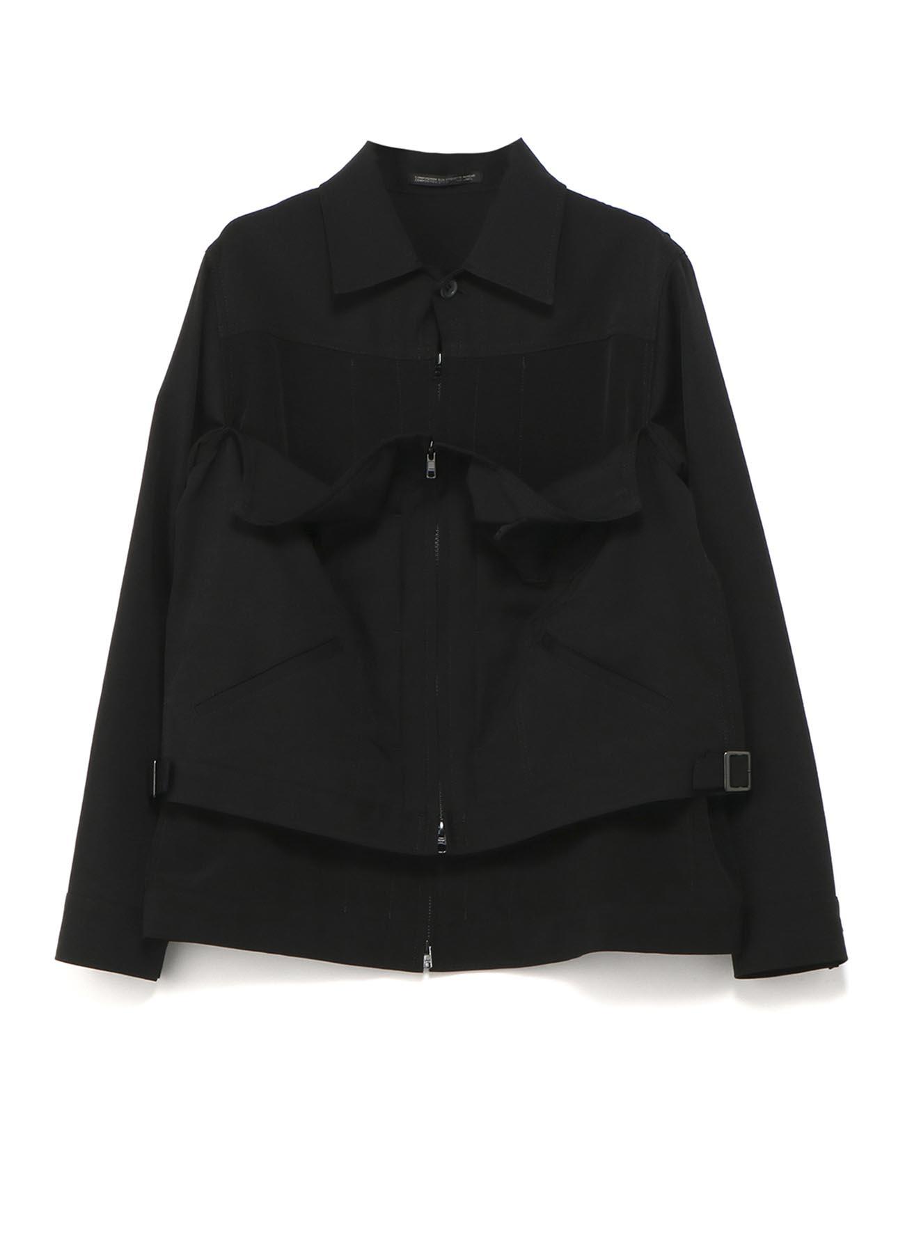 シワギャバ組み合わせジャケット