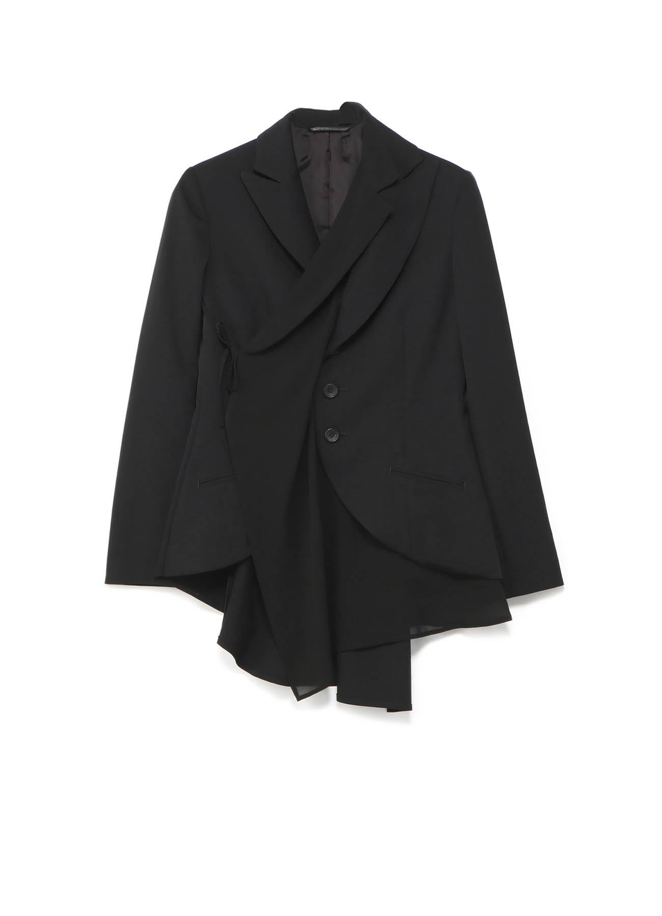 シワギャバフラシ布付ジャケット