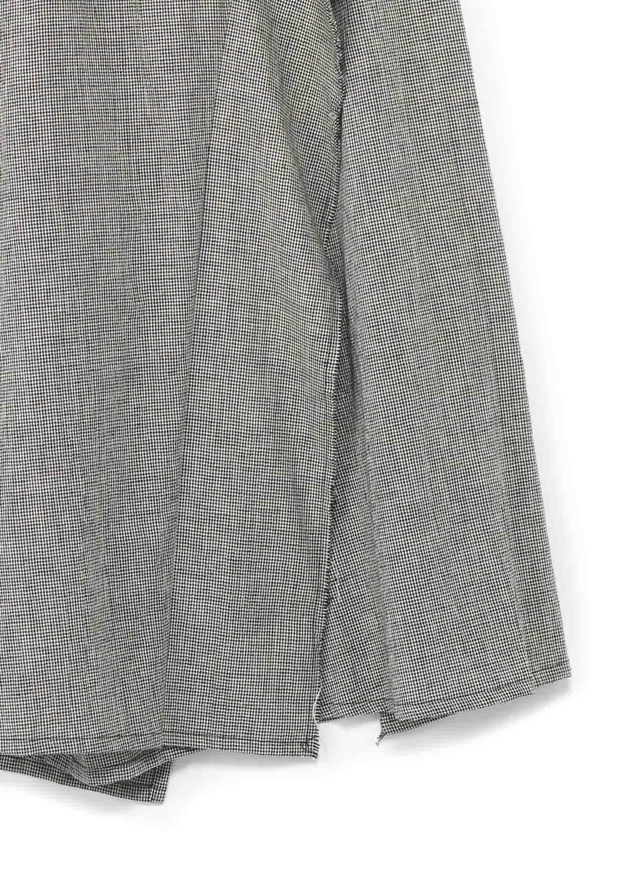 コットンリネン 左フラシ布付スカートパンツ