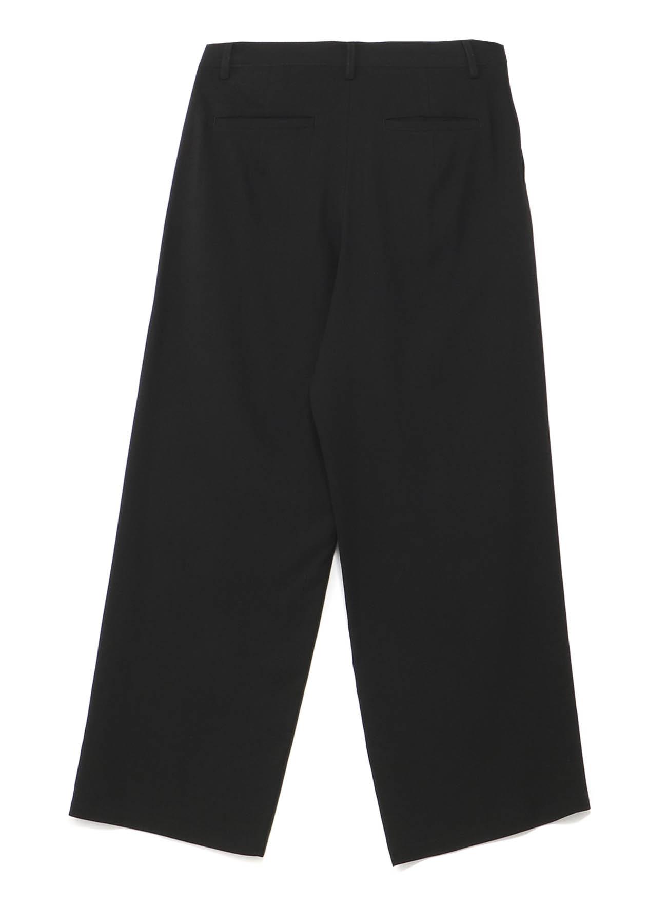 強撚ギャバ 後片玉縁パンツ