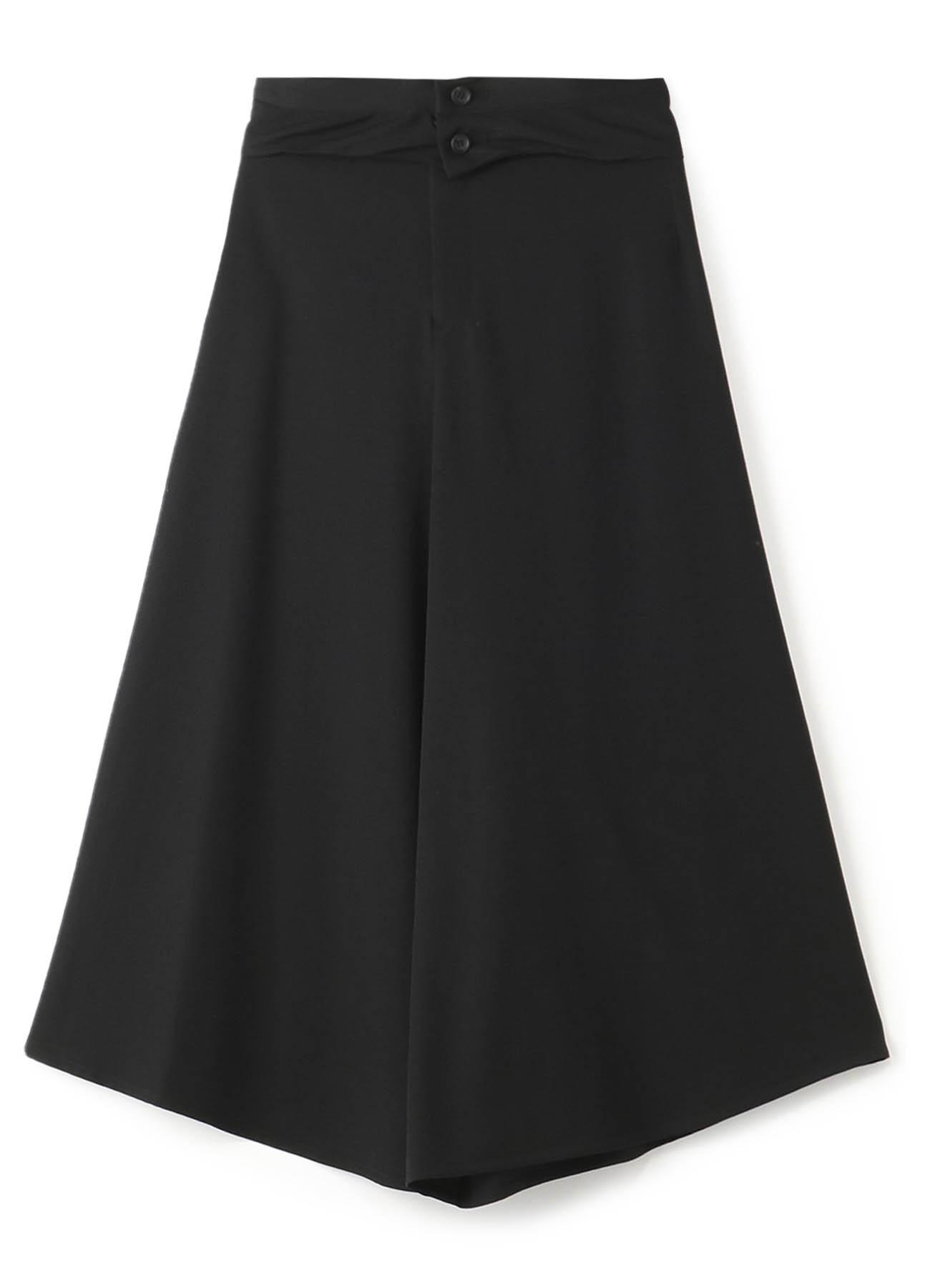 シワギャバ スカート風パンツ