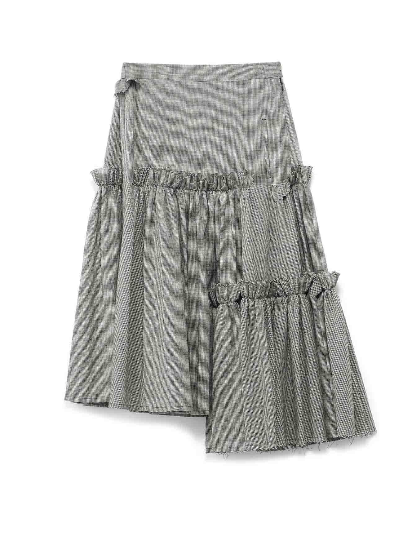 コットンリネン 3段ギャザースカート
