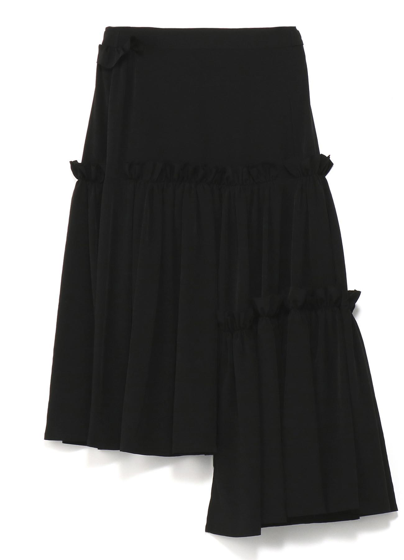 トリアセテート3段ギャザースカート