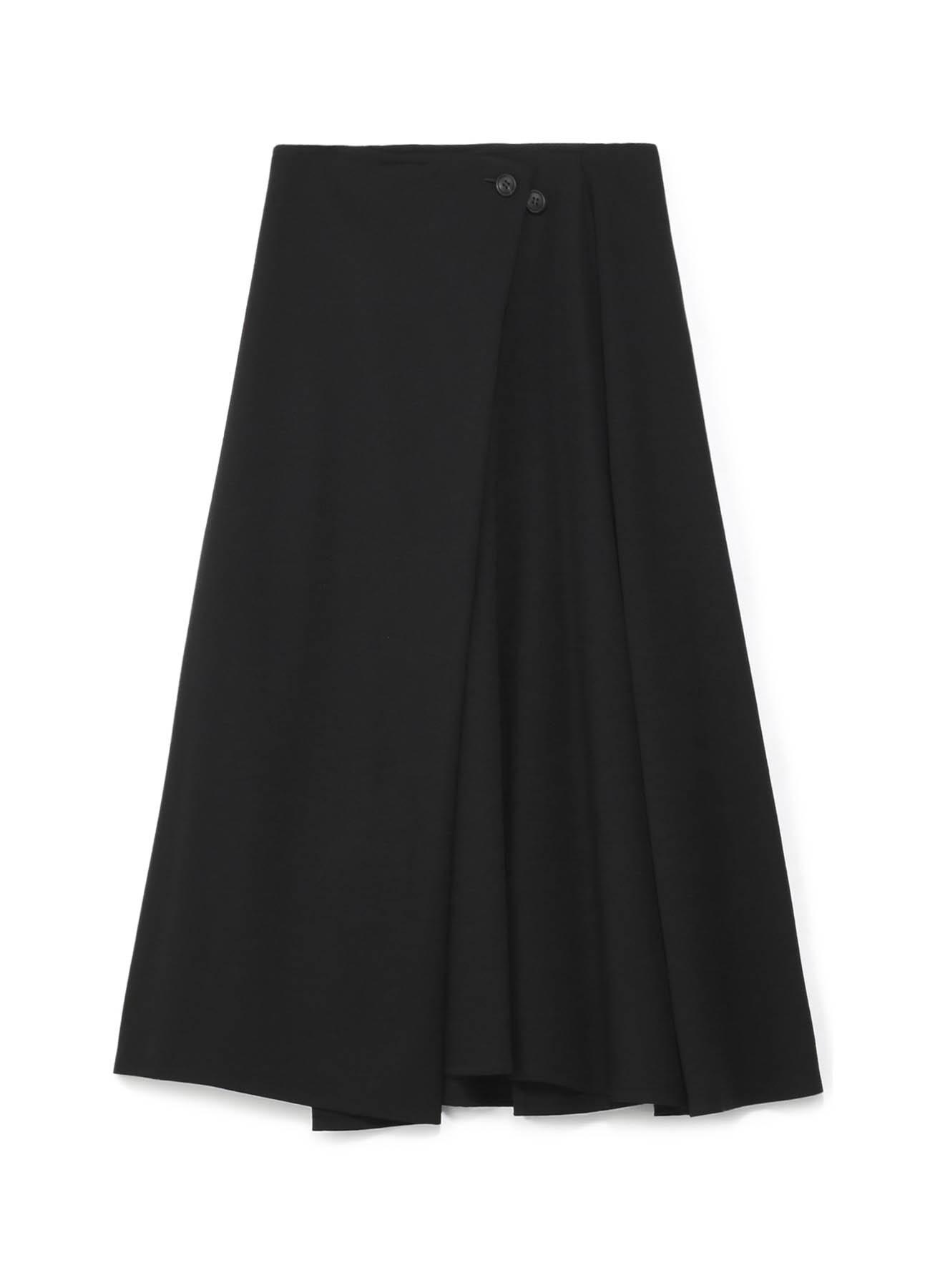 シワギャバ釦ロングスカート