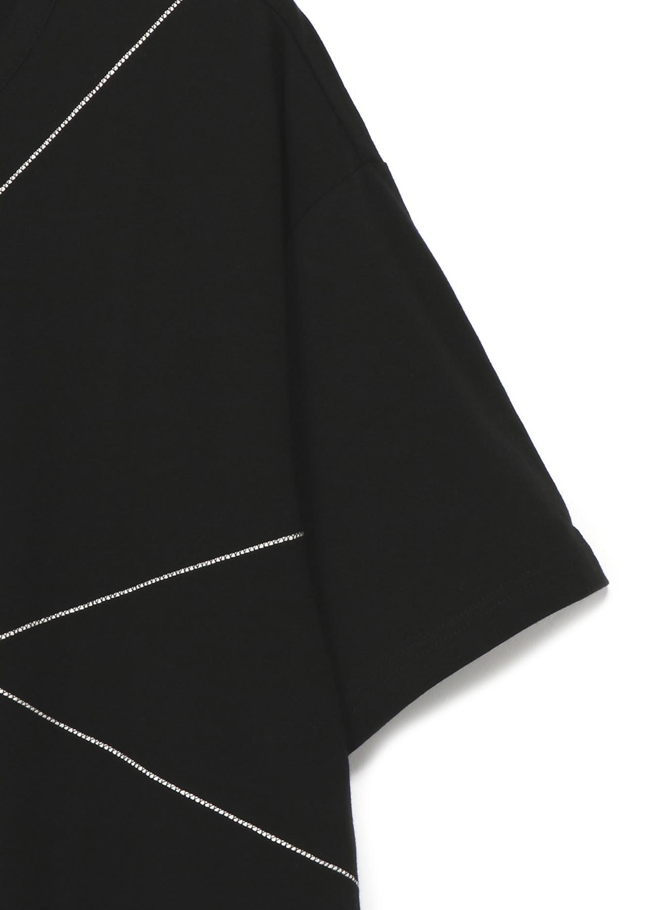 30/天竺シリコン仕上げ ひび割れ半袖Tee
