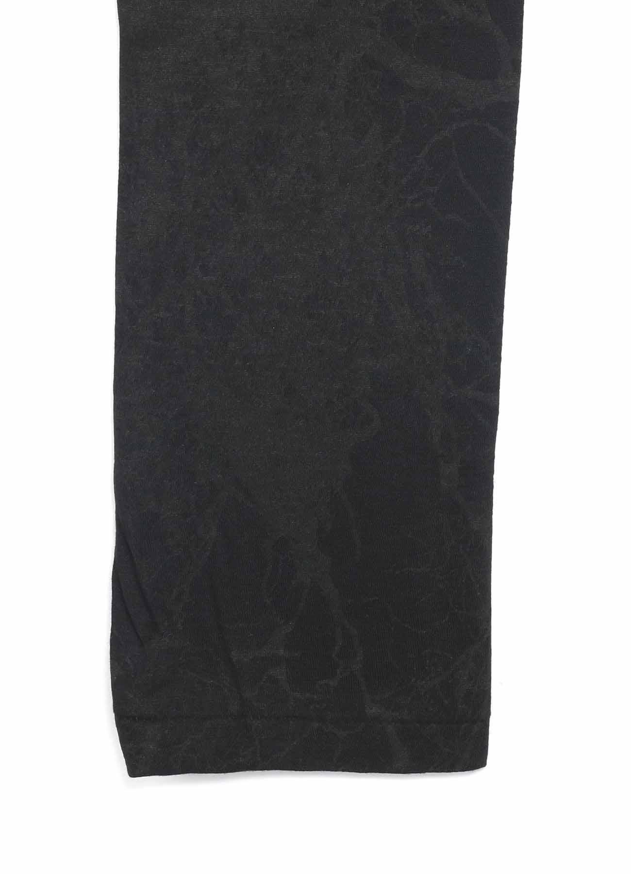 樹木柄プリント ダブルタック長袖
