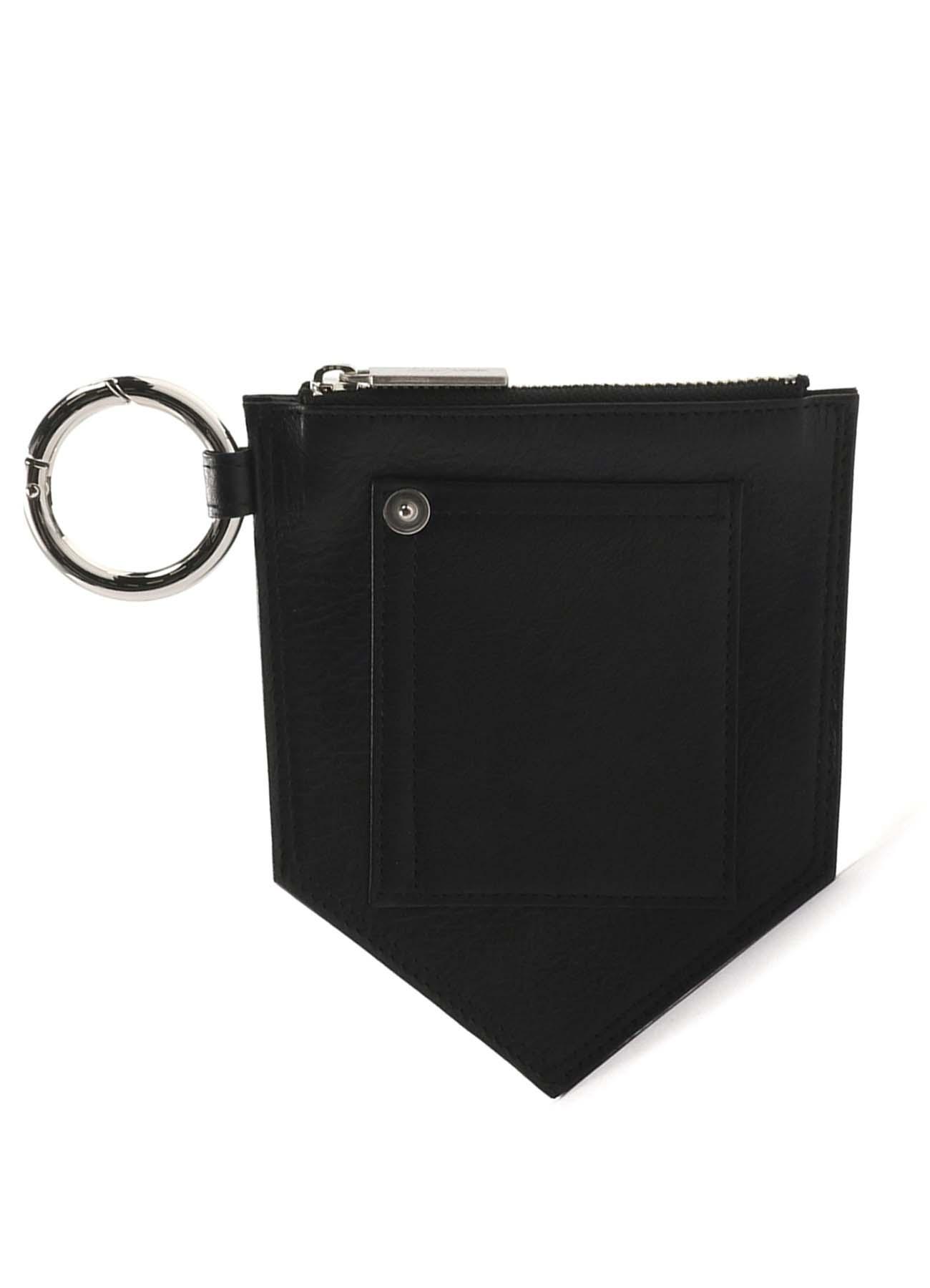 オイルレザー真鍮ポケットチェーンポーチ
