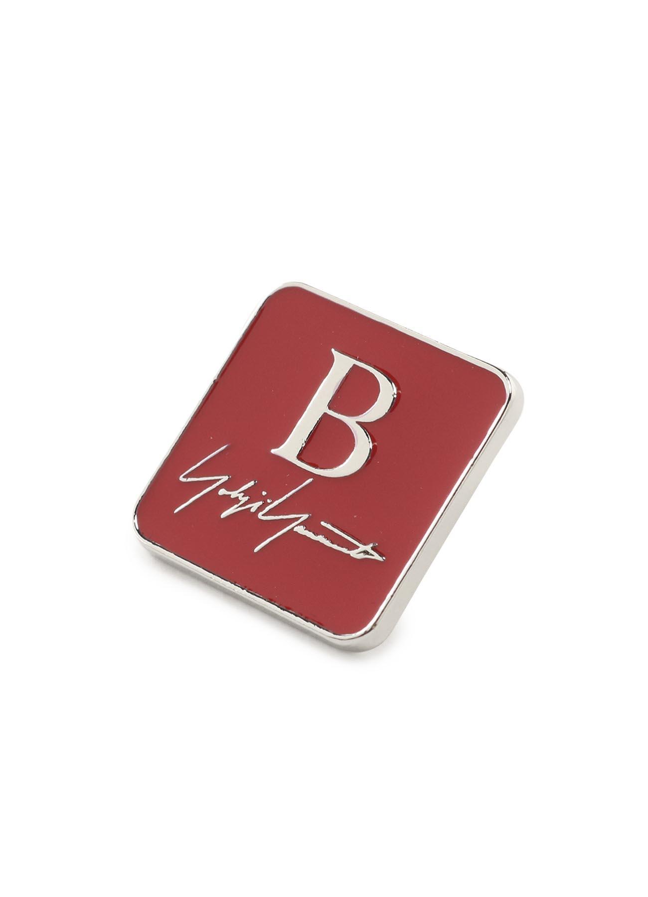 B Yohji Yamamoto Logo Pin badge
