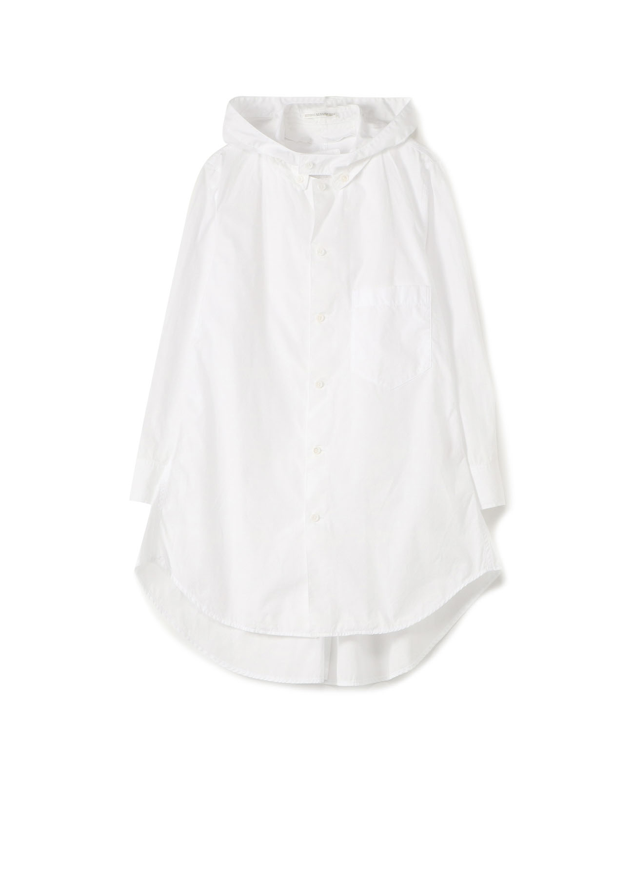 100/2 BROAD DETACHABLE HOOD SHIRT