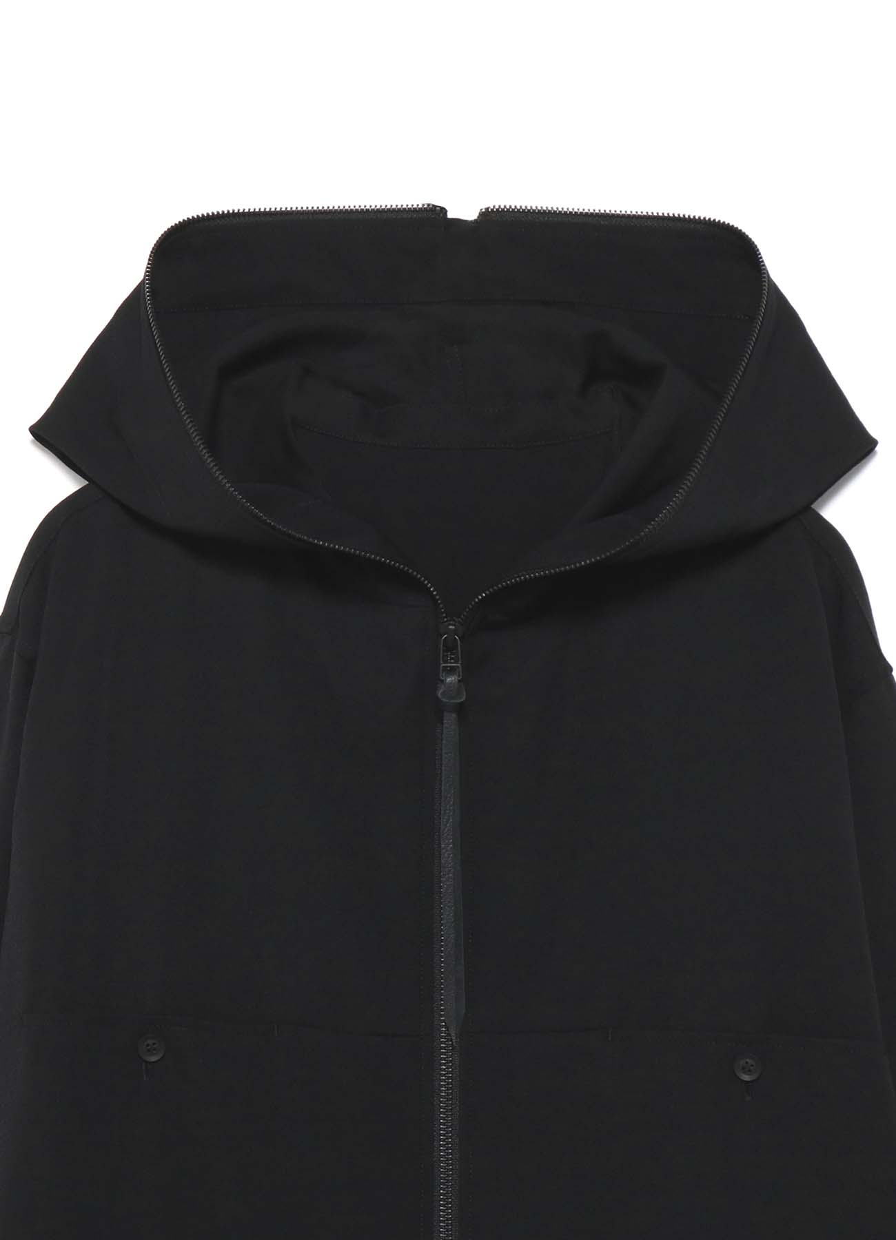 B/ Wool Gabardine fastener food shirt