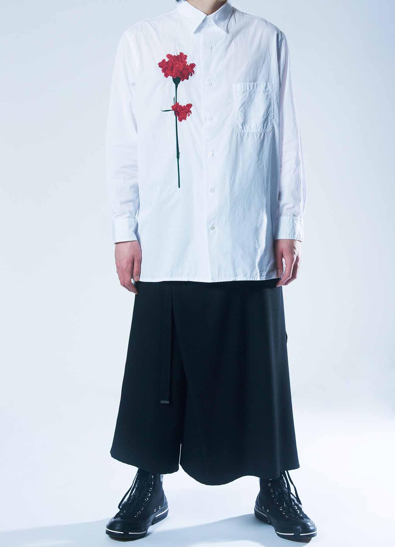 B Yohji Yamamoto Red flower Shirt