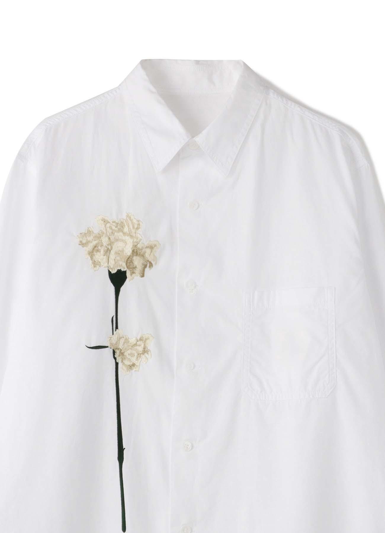 B Yohji Yamamoto White flower Shirt