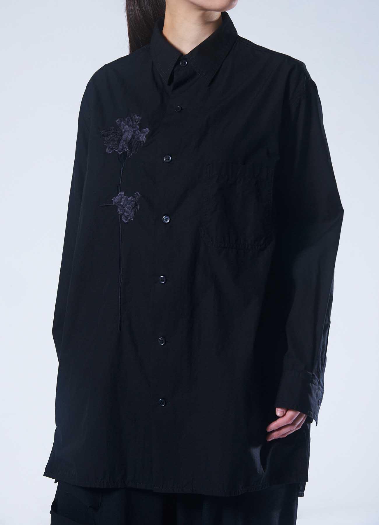 B Yohji Yamamoto Black flower Shirt