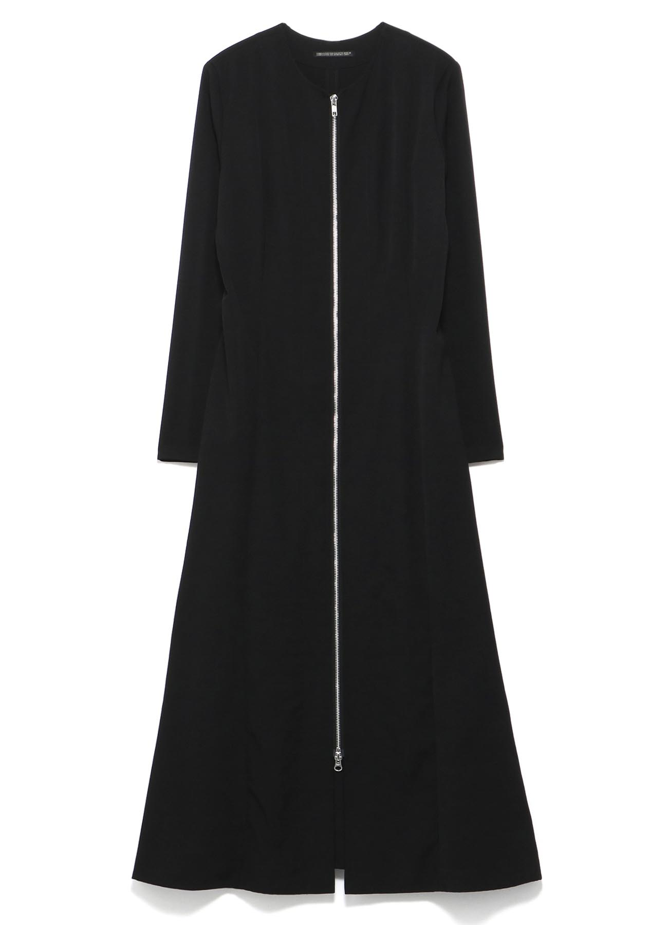 GABARDINE F ZIP OPEN DRESS