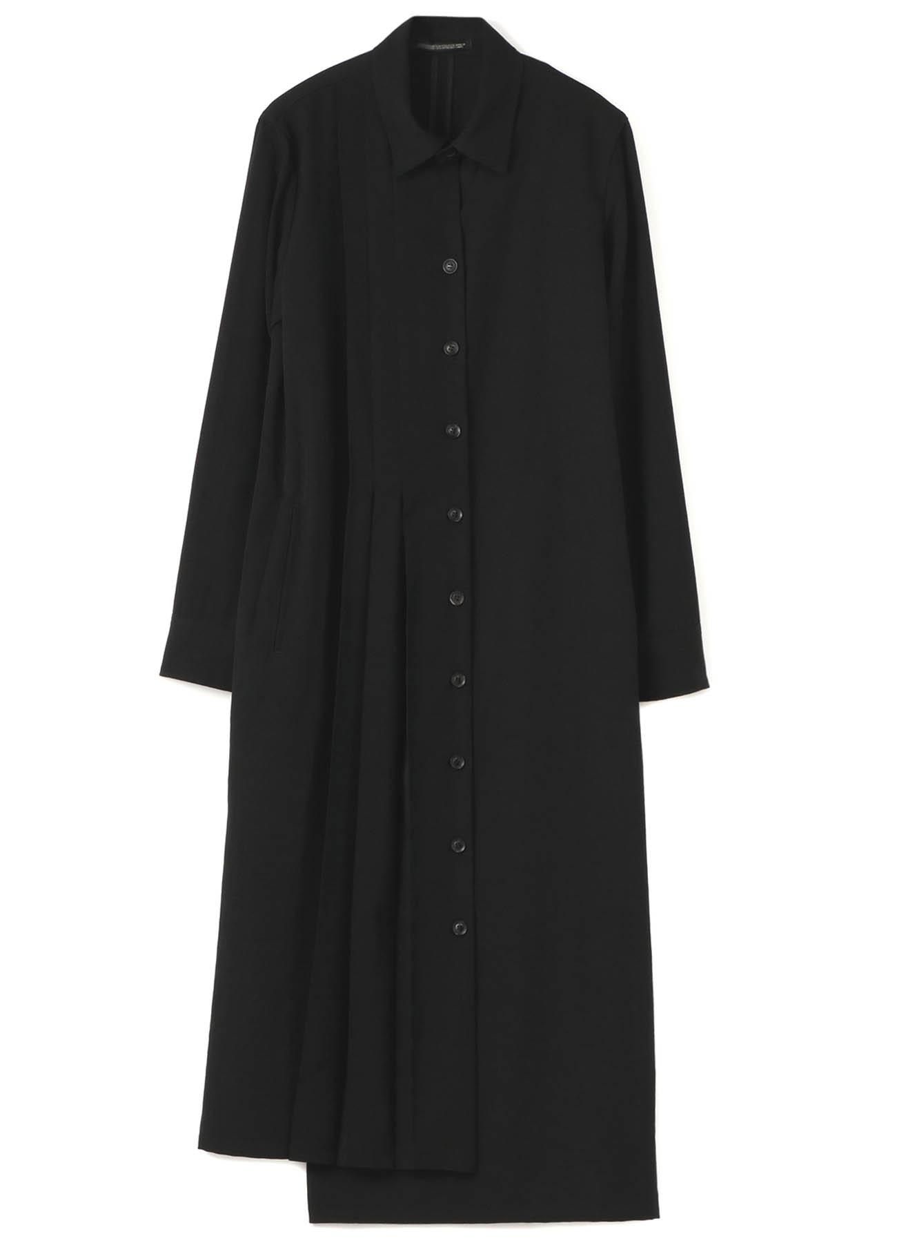 シワギャバプリーツドレス