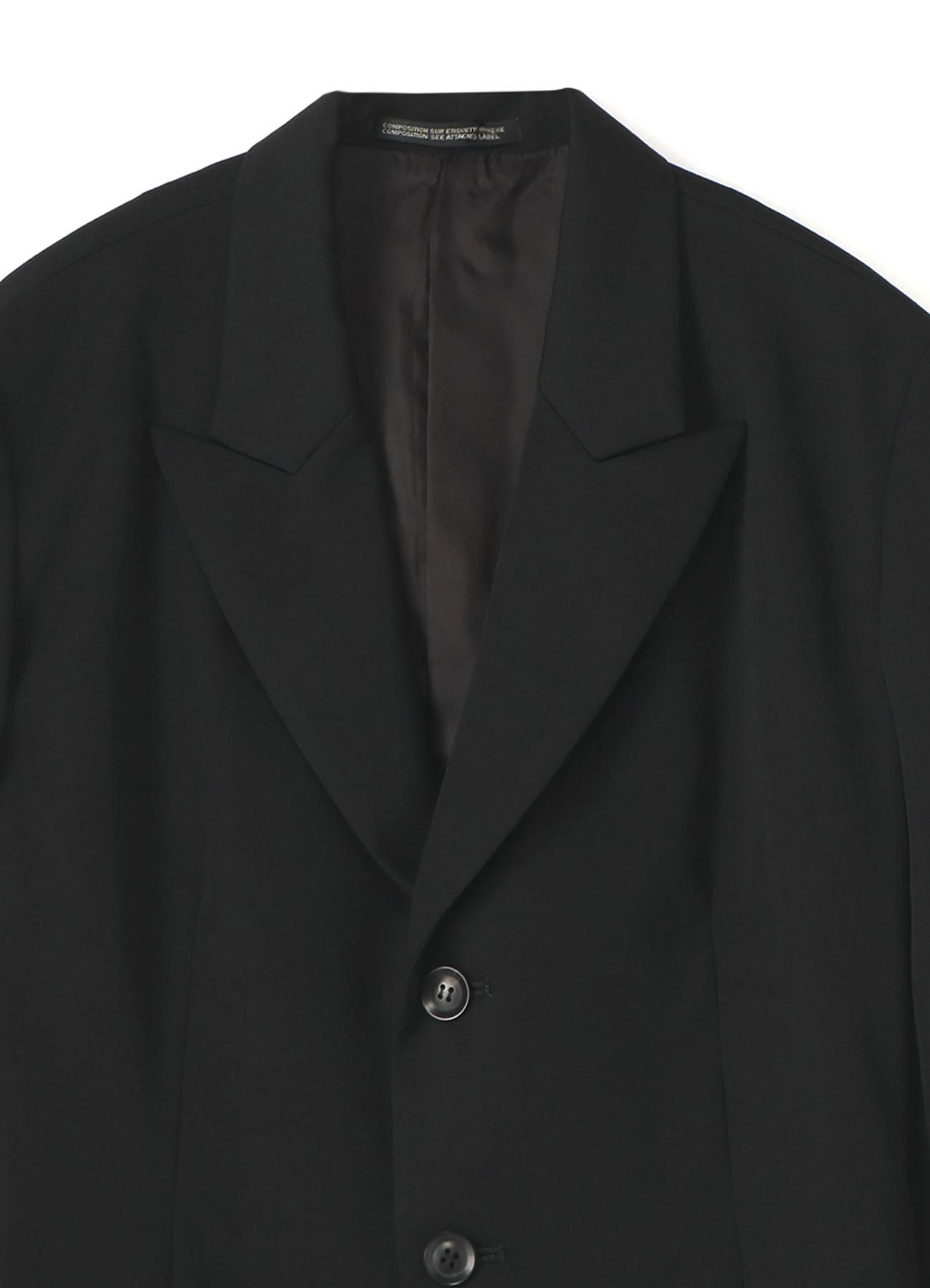 シワギャバ左前フラシ布付ジャケット