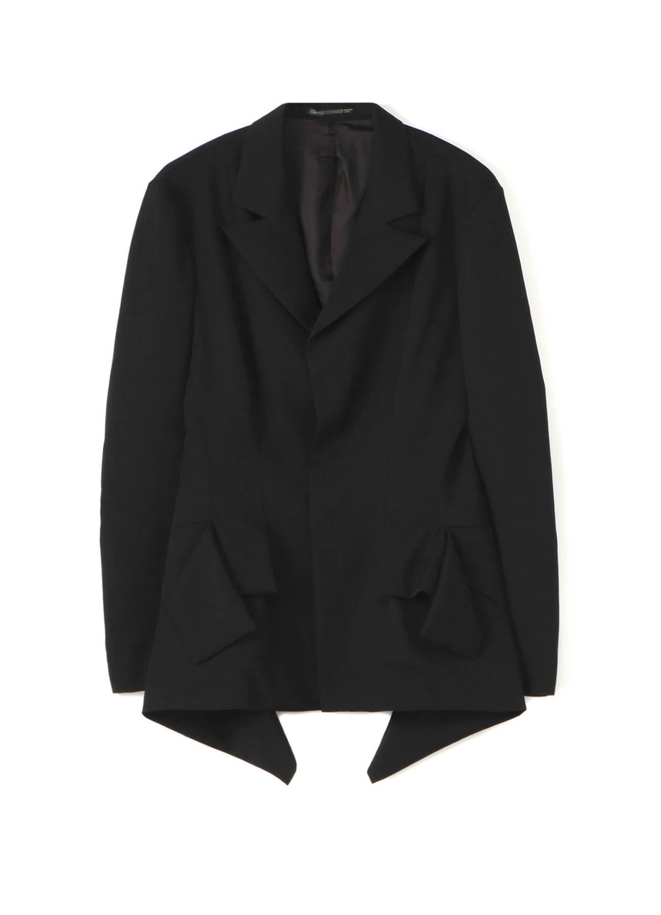 シワギャバフラシスナップ開きジャケット