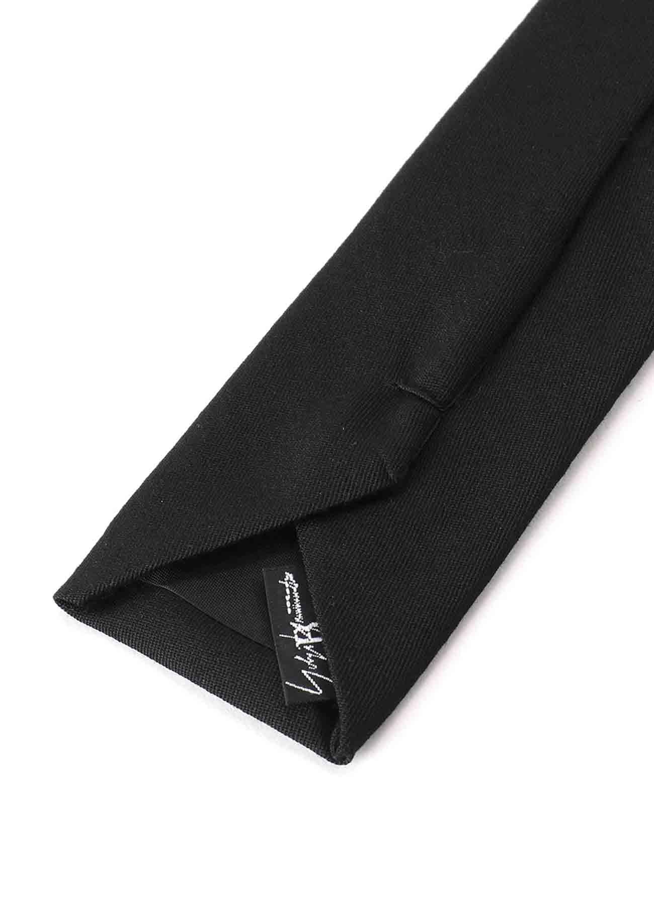 B/ Wool Gabardine Embroidery Tie ''山本耀司''