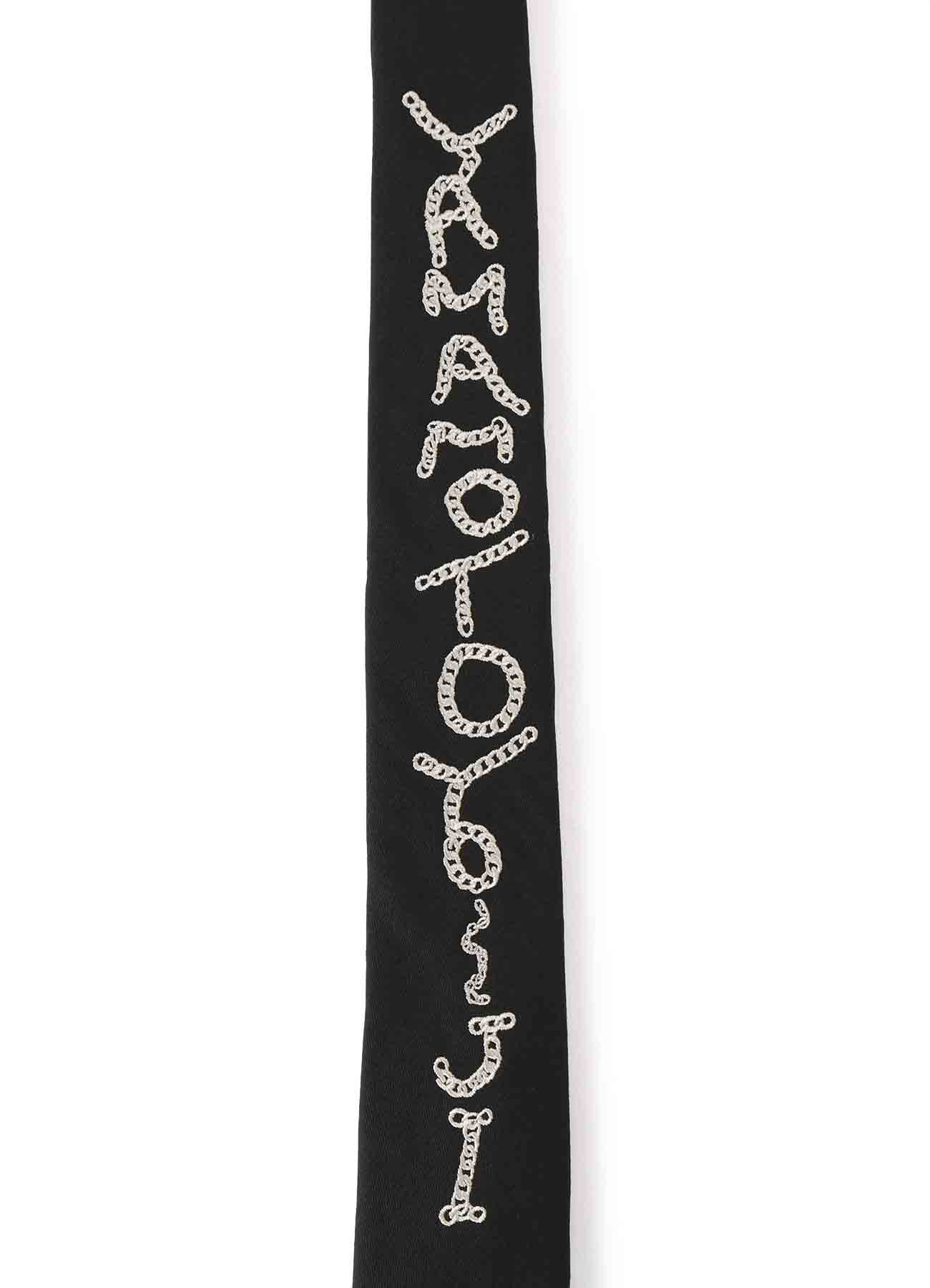 B/ Wool Gabardine Embroidery Tie ''YAMAMOTOYO~JI''