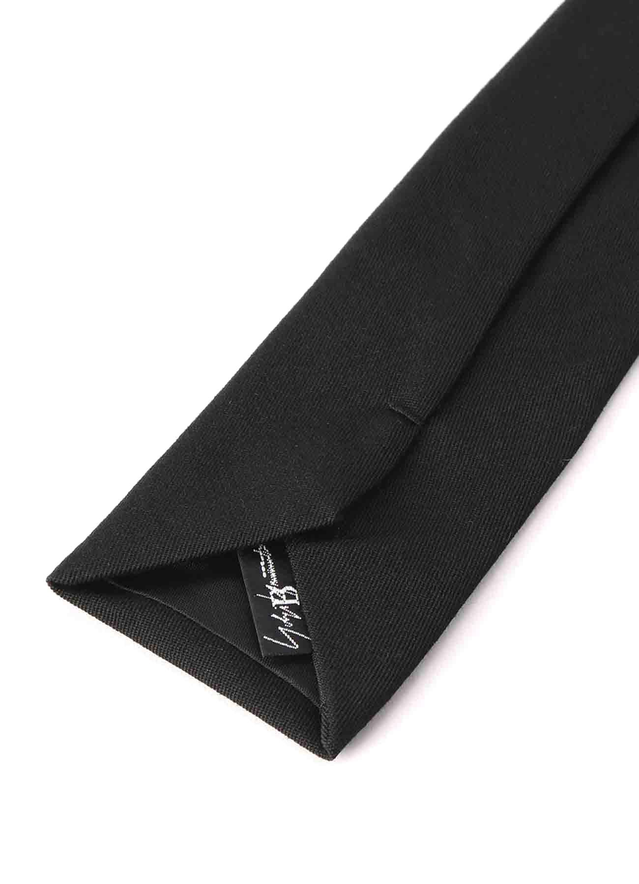 B/ Wool Gabardine Embroidery Tie ''Yohji YAMAMOTO''