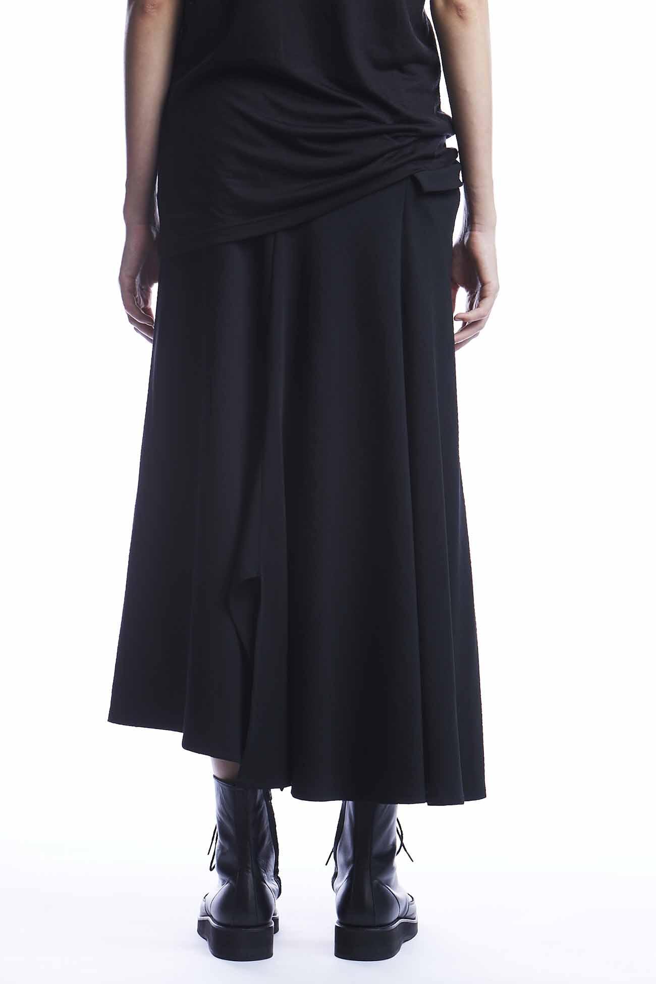 シワギャバ右めくれポケットスカート