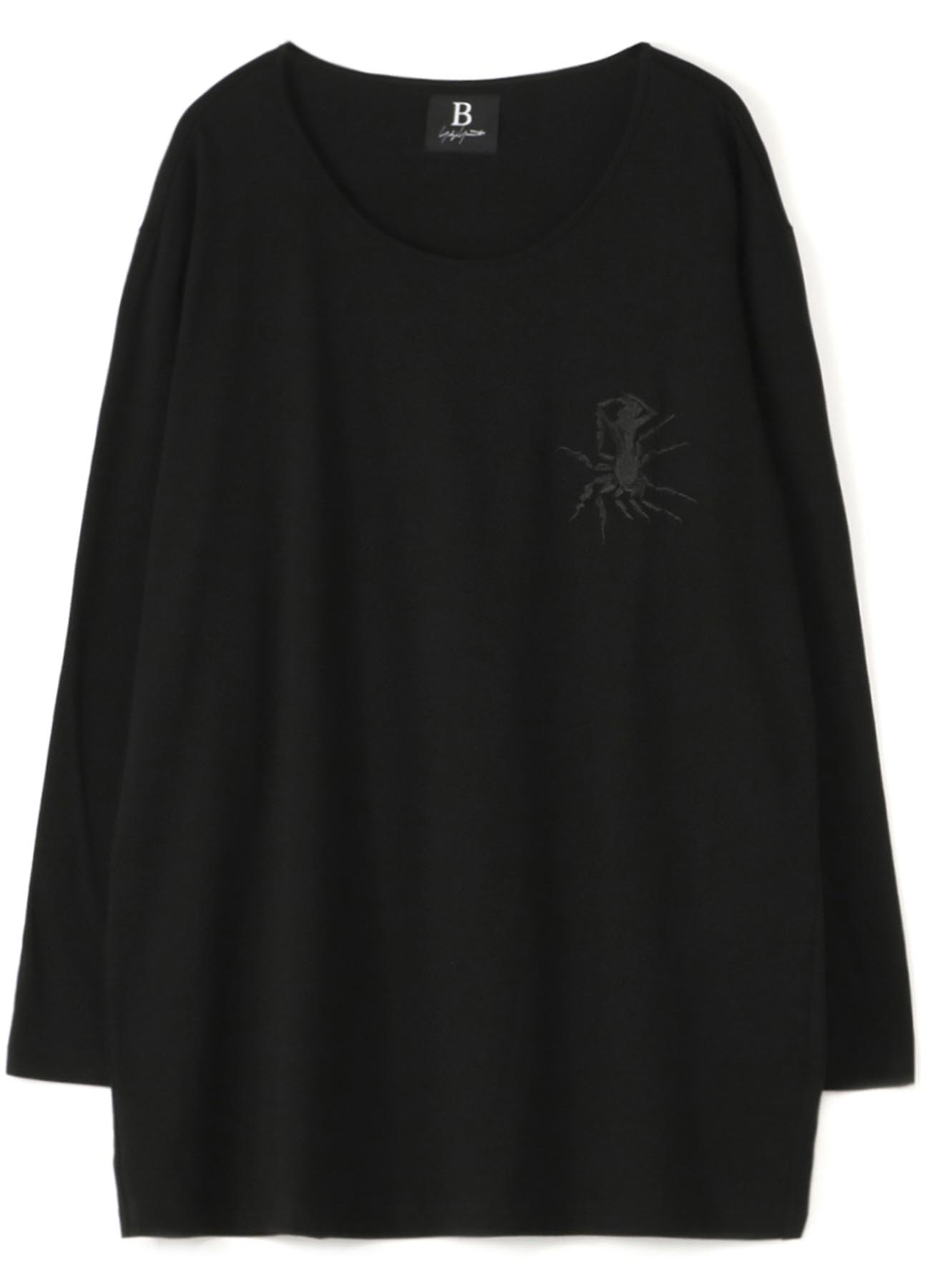 B/Cotton Embroidery L/S Tee