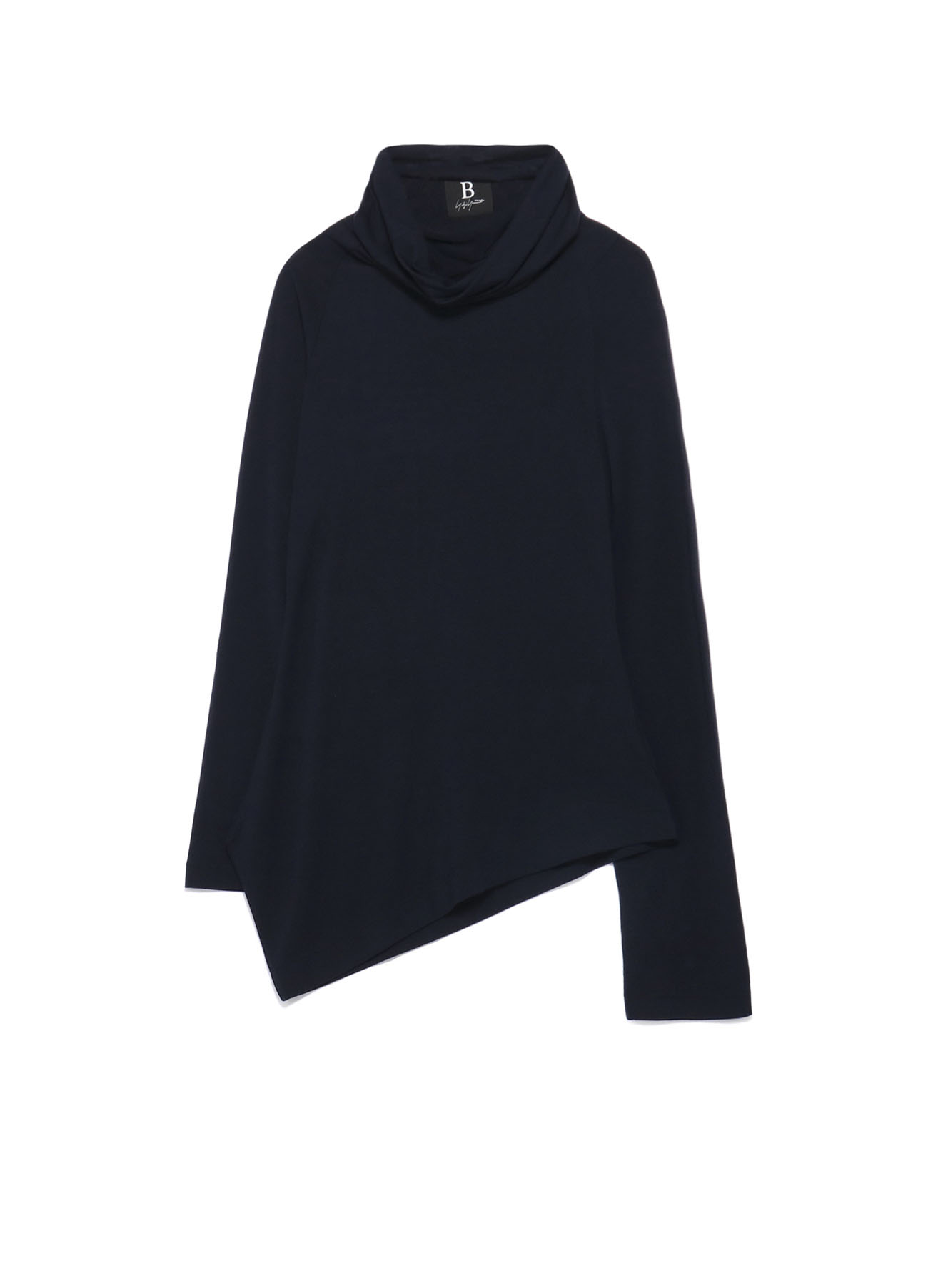 B/Rug Warm Asymmetry Turtleneck T-shirt
