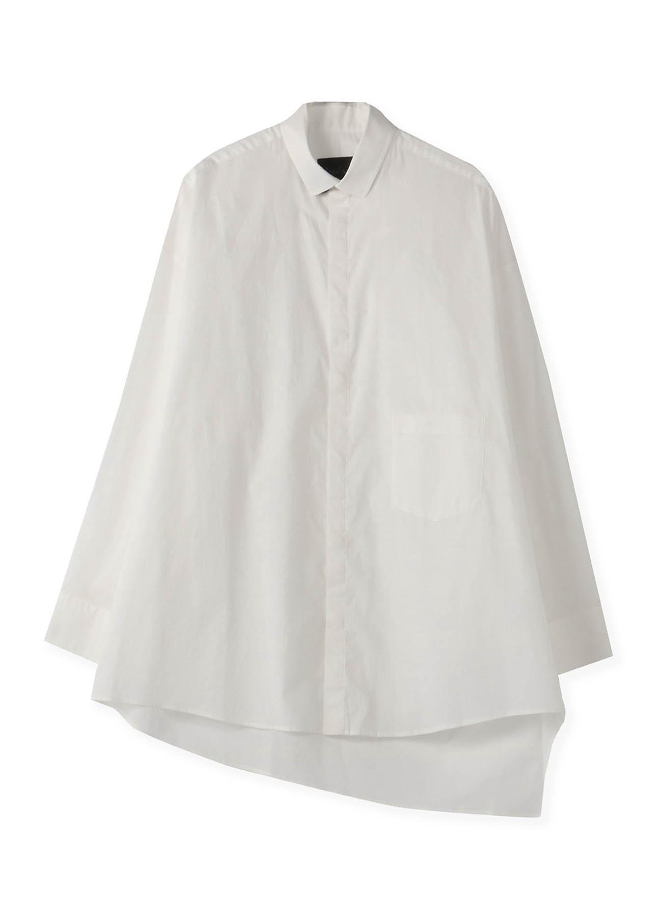 蝙蝠袖开缝长款衬衫