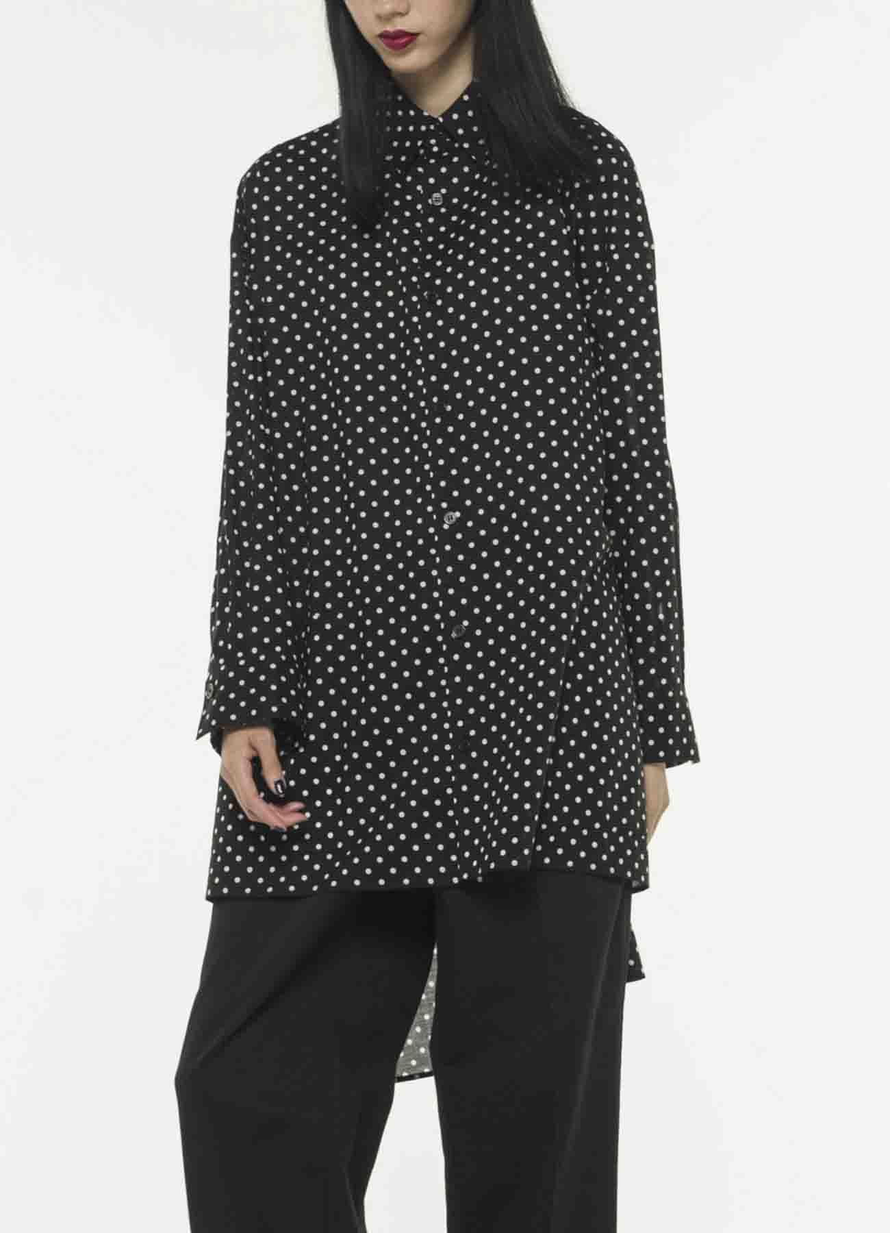 [THE SHOP limited]圆点垂褶罩衫