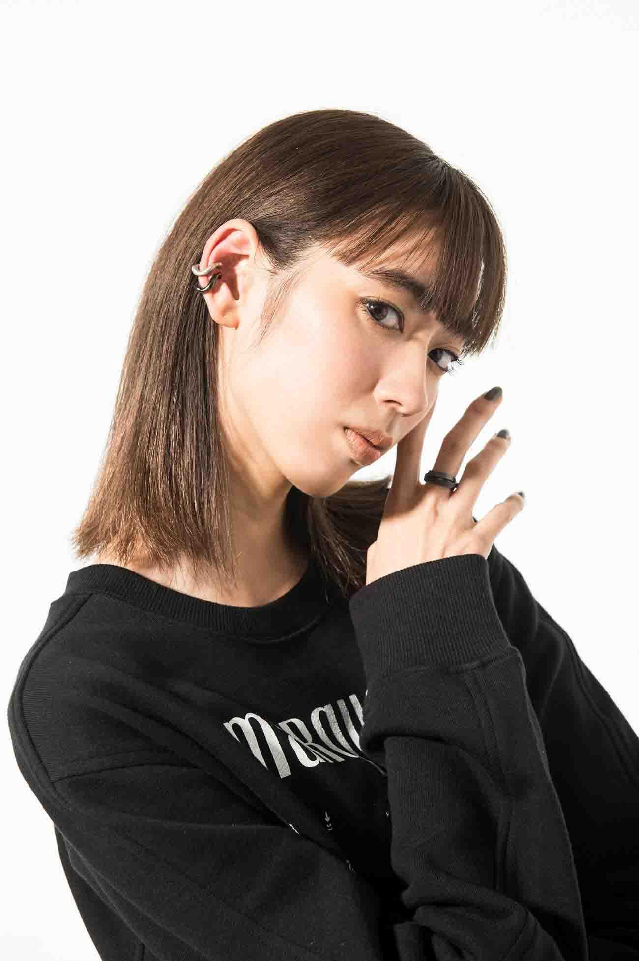Brass Curved Chain Ear Cuff