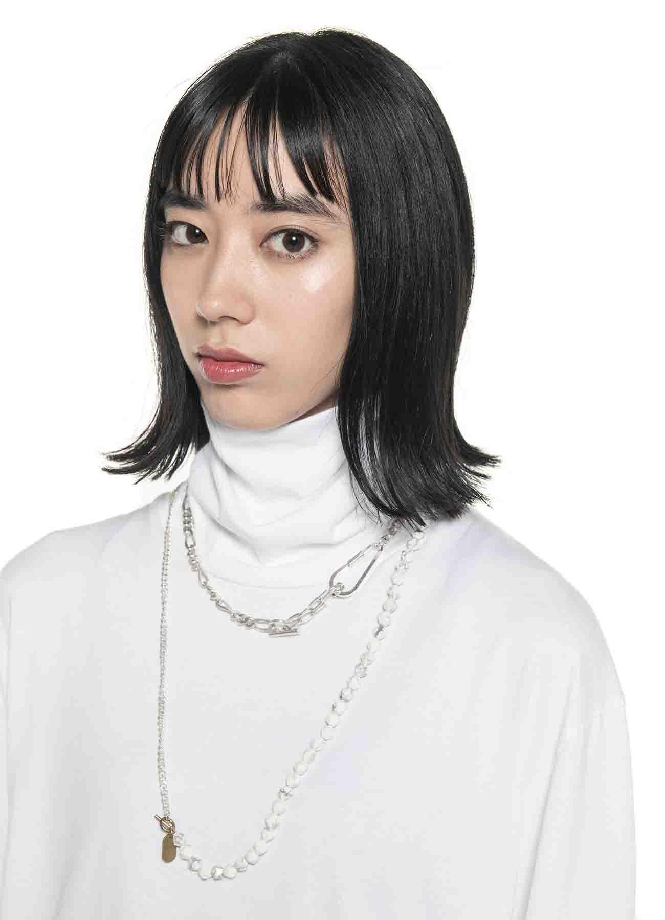 White Howlite Hain Necklace Bracelet