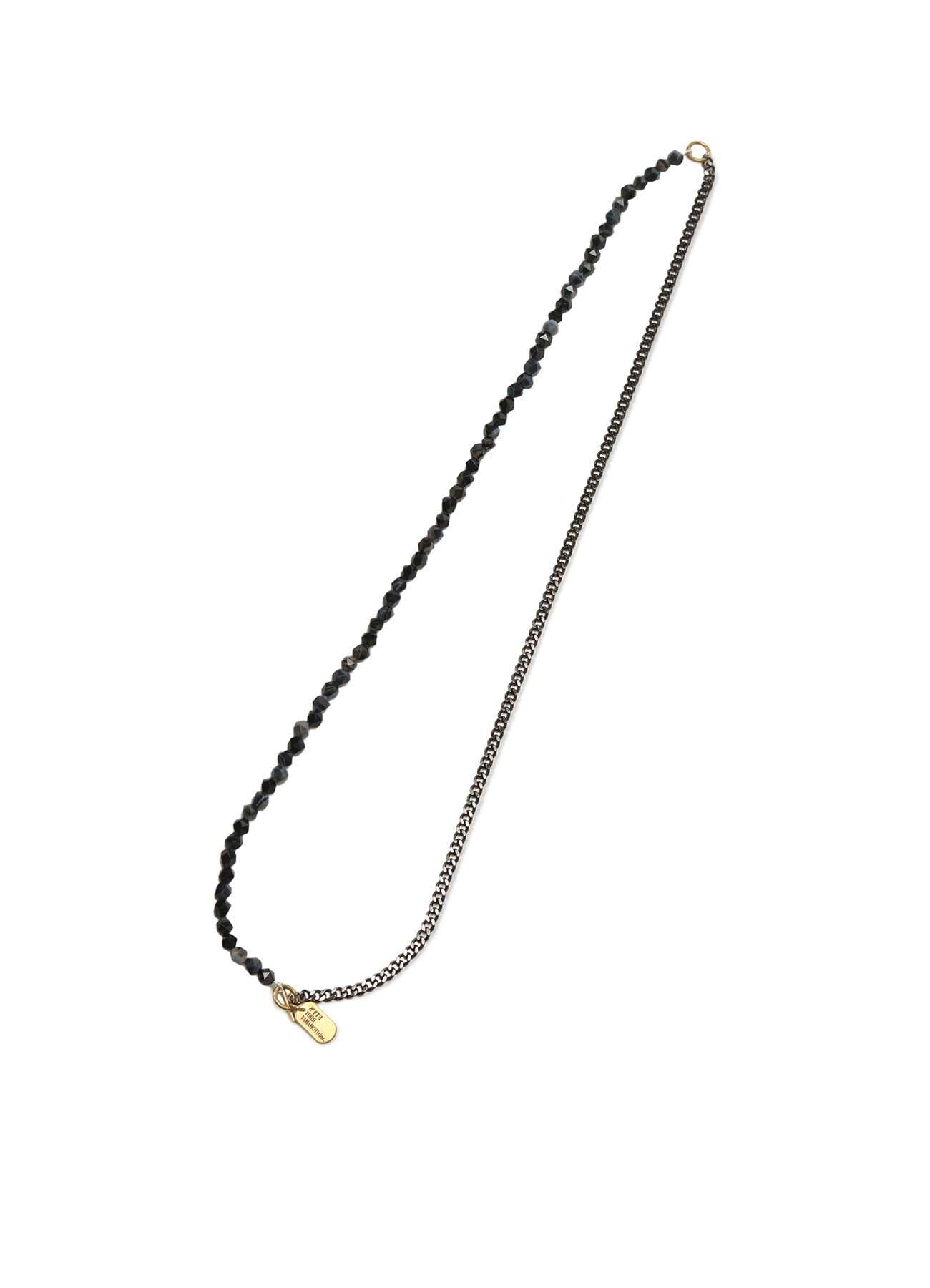 Onyx Brass Chain Necklace Bracelet