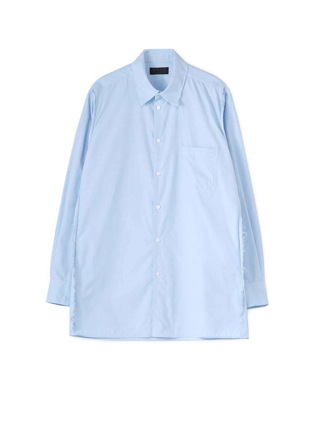 C/Chambray Cut off Regular Collar Shirt