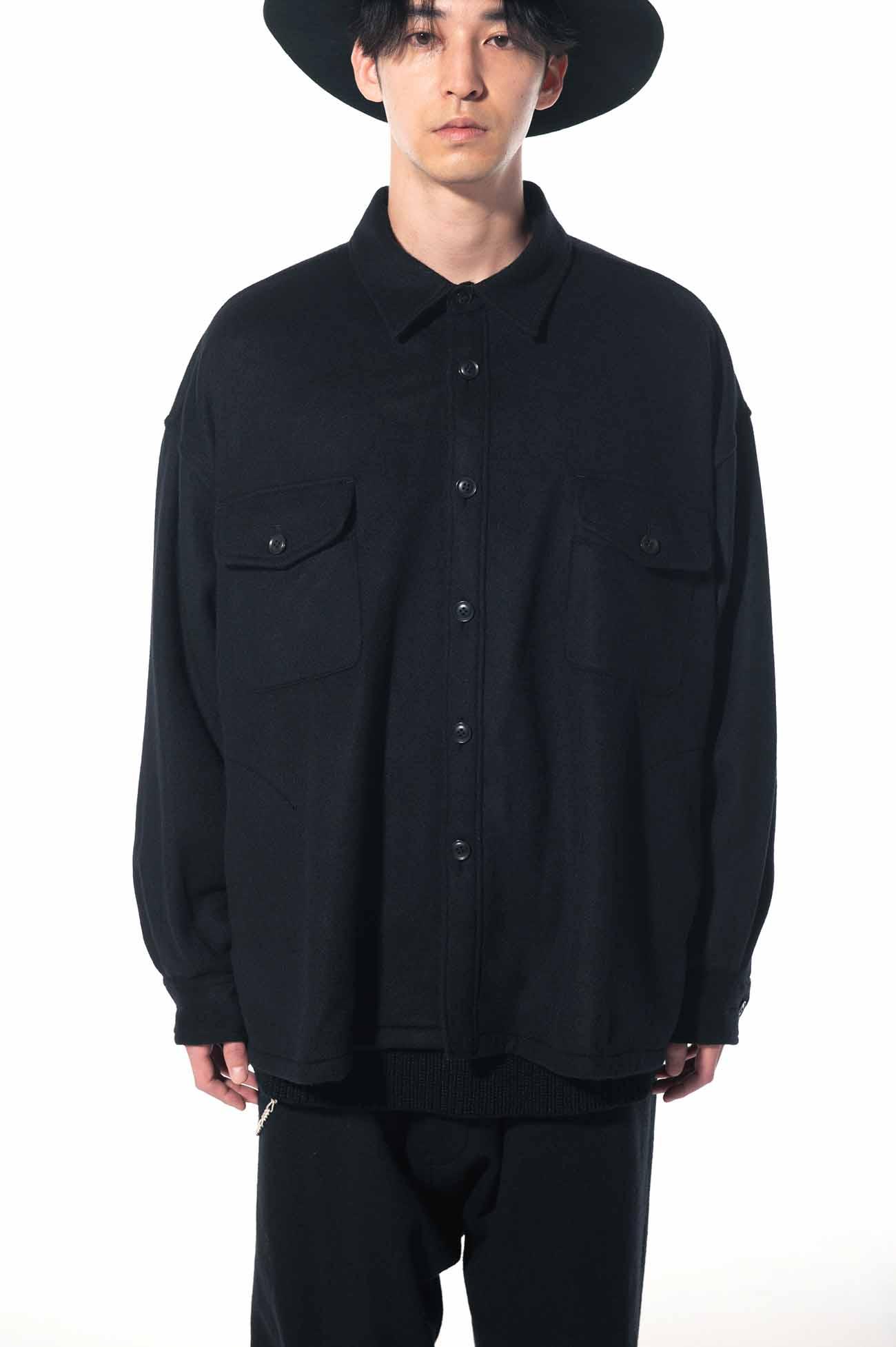 Wool Nylon Beaver CPO Big Shirt Jacket