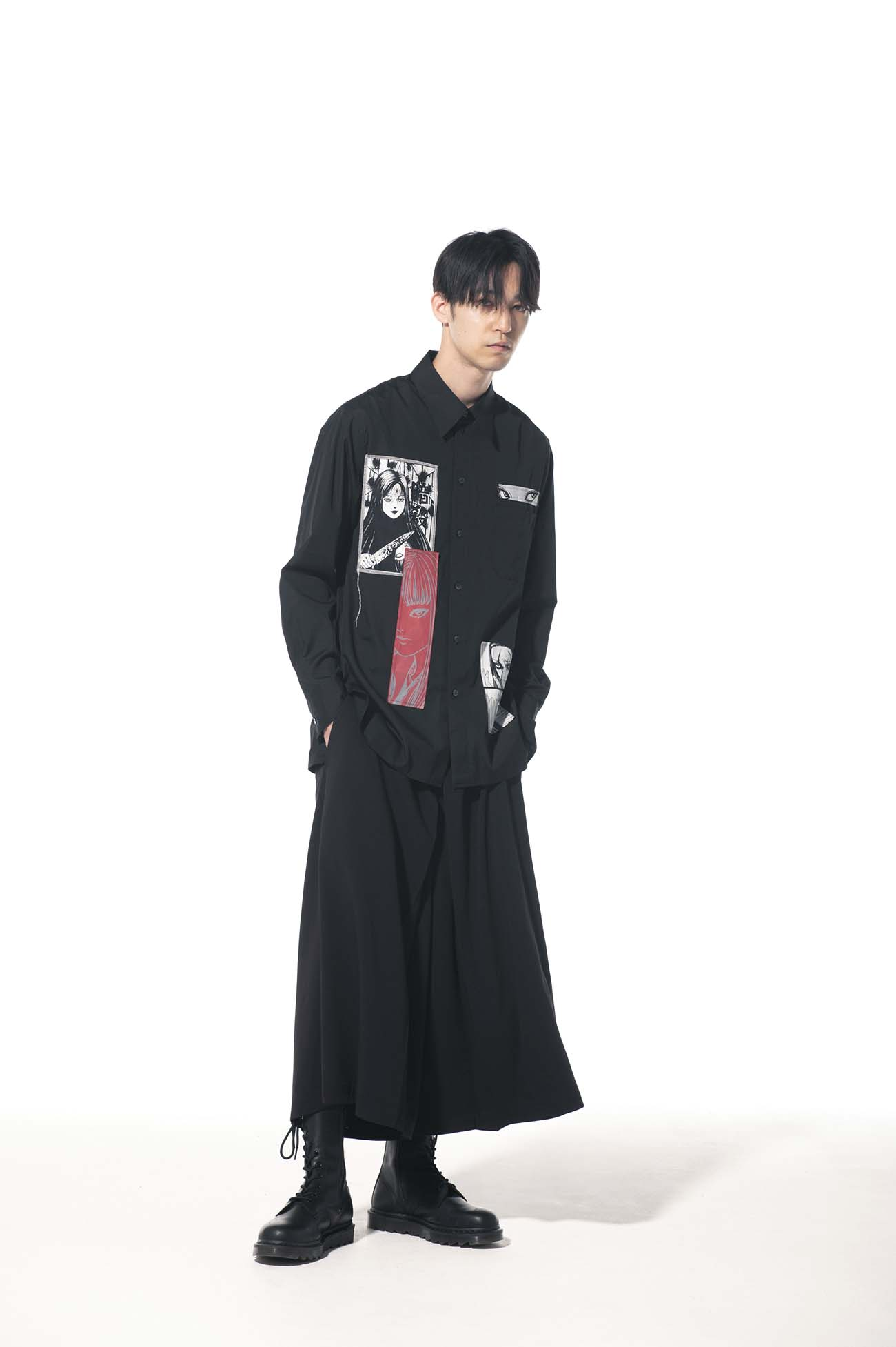 "100/2 Broad Junji Ito ""Tomie"" Omnibus Printed Patch Shirt"