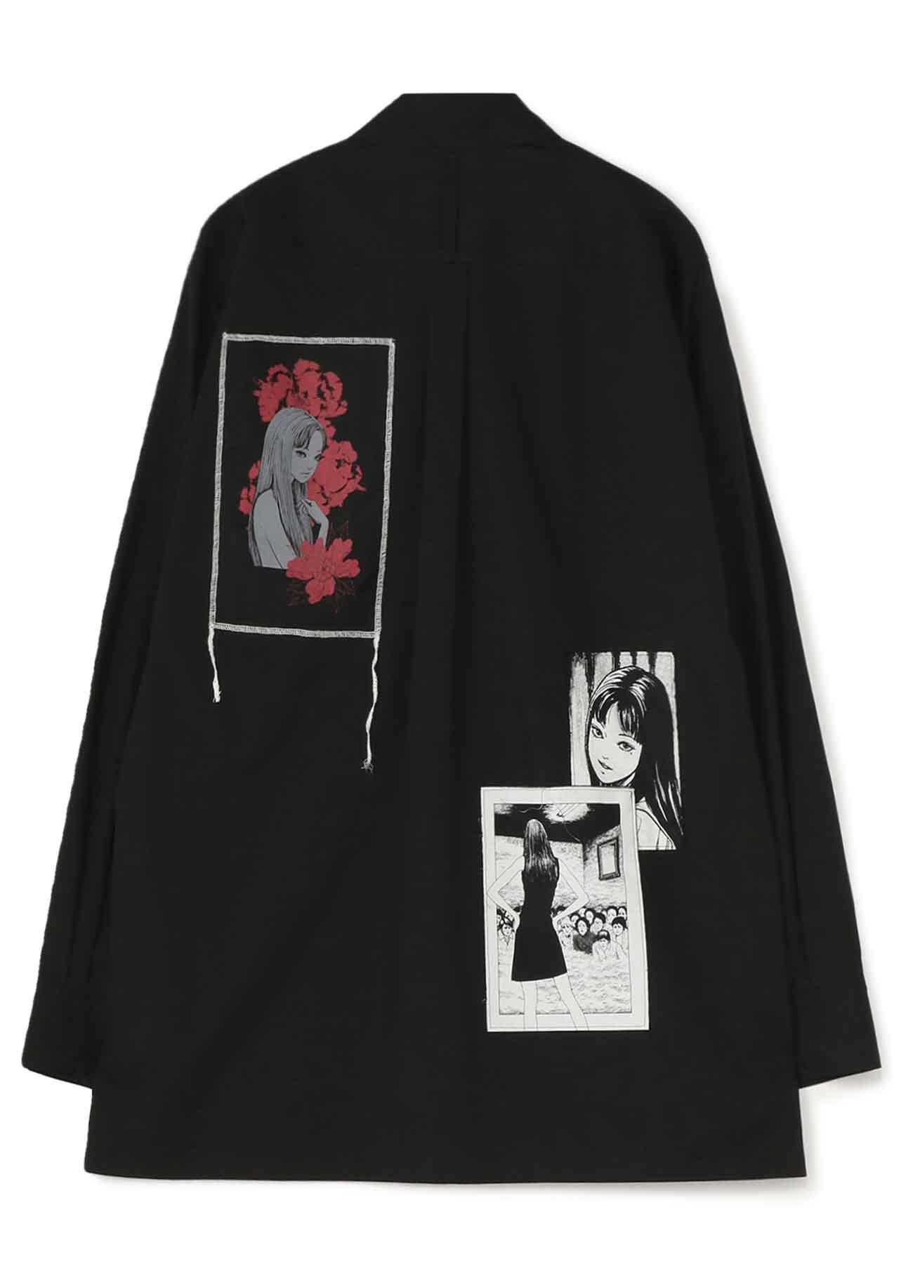 100/2 Broad Junji Ito「Tomie」Omnibus Printed Patch Shirt