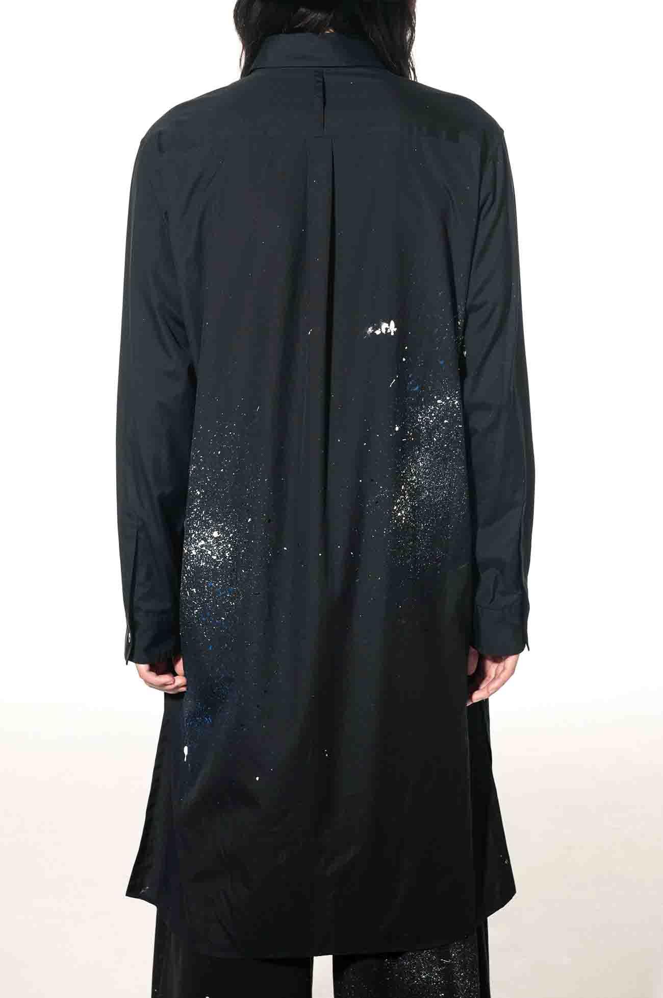 100/2 Broad Splash Paint Processing Long Shirt