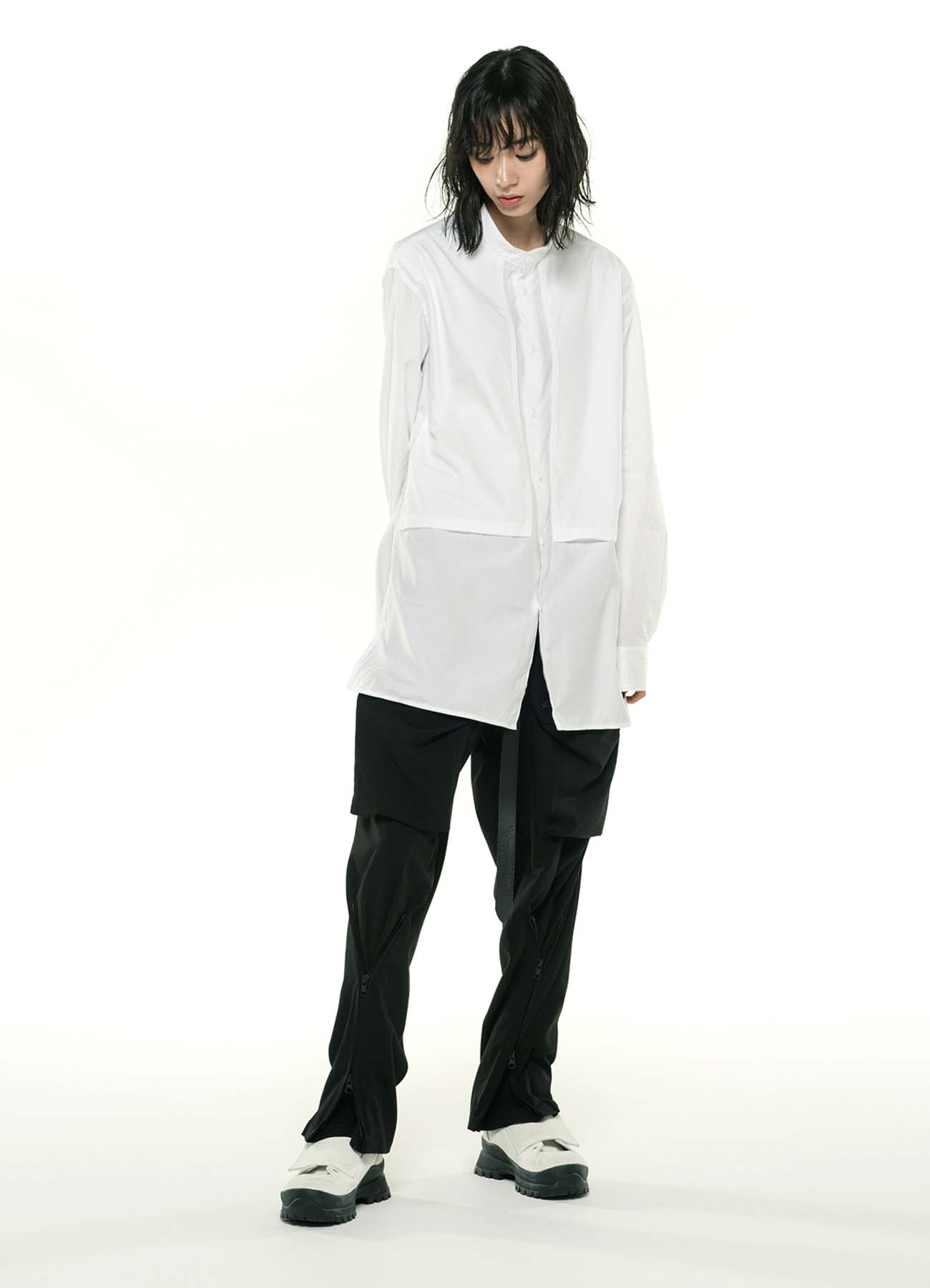 100/2 Broad Stand Color Center Slash Pocket Shirt