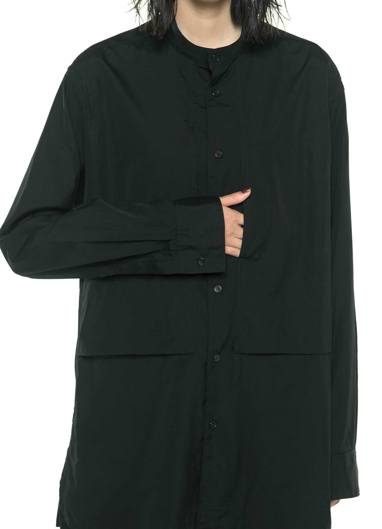 100/2 Broad Stand Color Center Slash Pocket Shirt