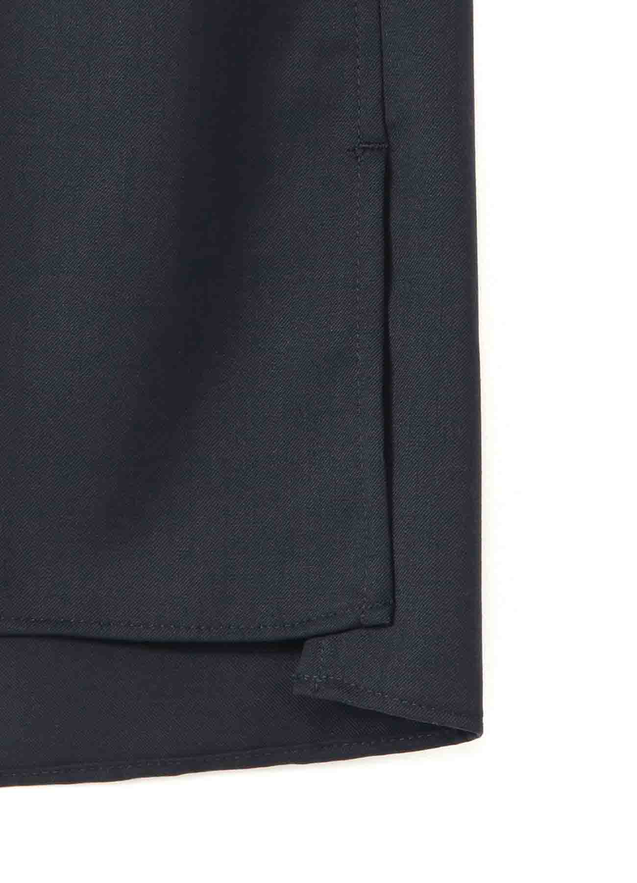 T/W Gabardine Stand Collar Center Slash Pocket Shirt