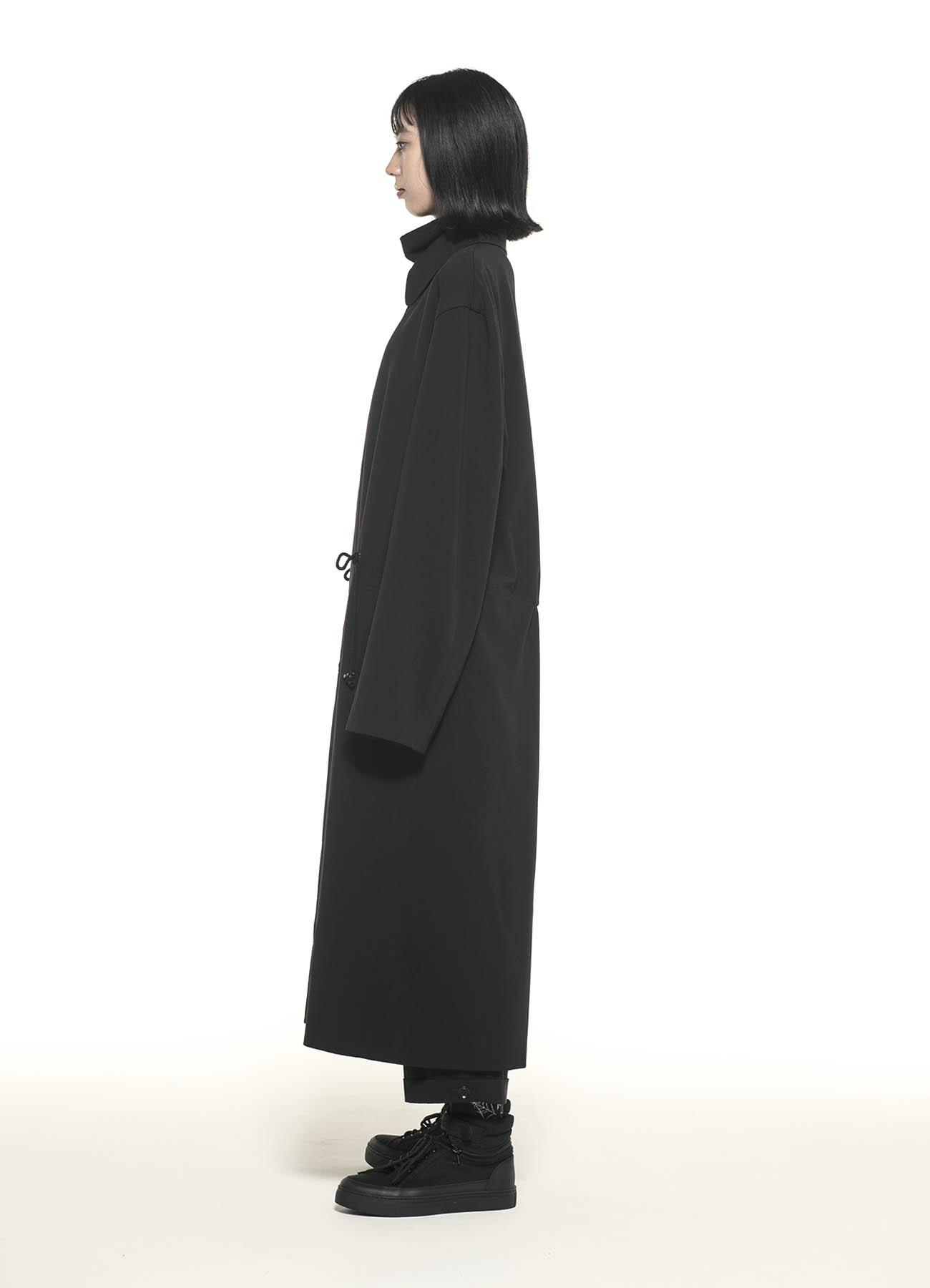 Pe/Rayon Gabardine Stretch Soutien Collar Big Coat