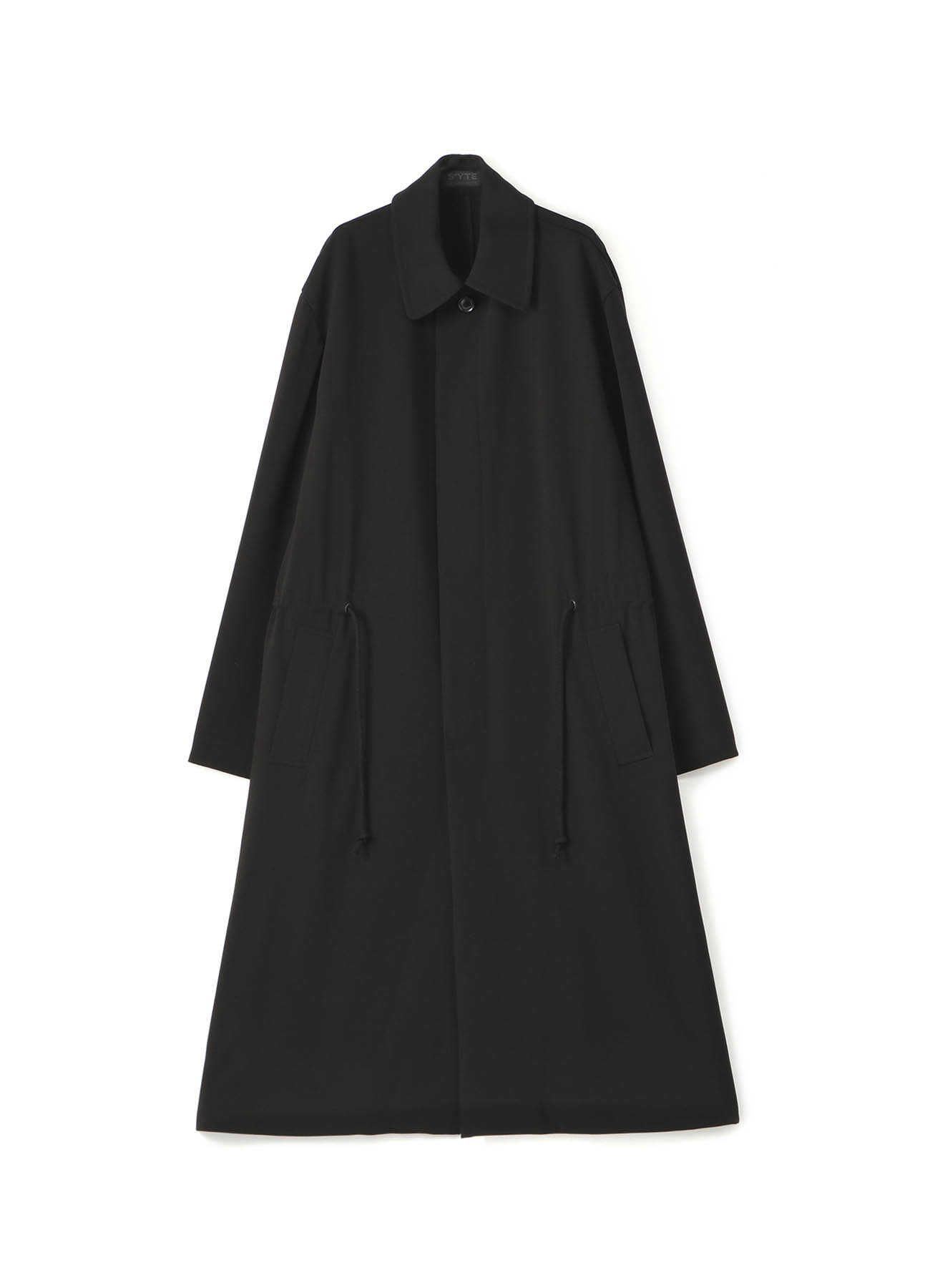 Pe/Rayon Gabardine Stretch Soutien Collar Big Coat