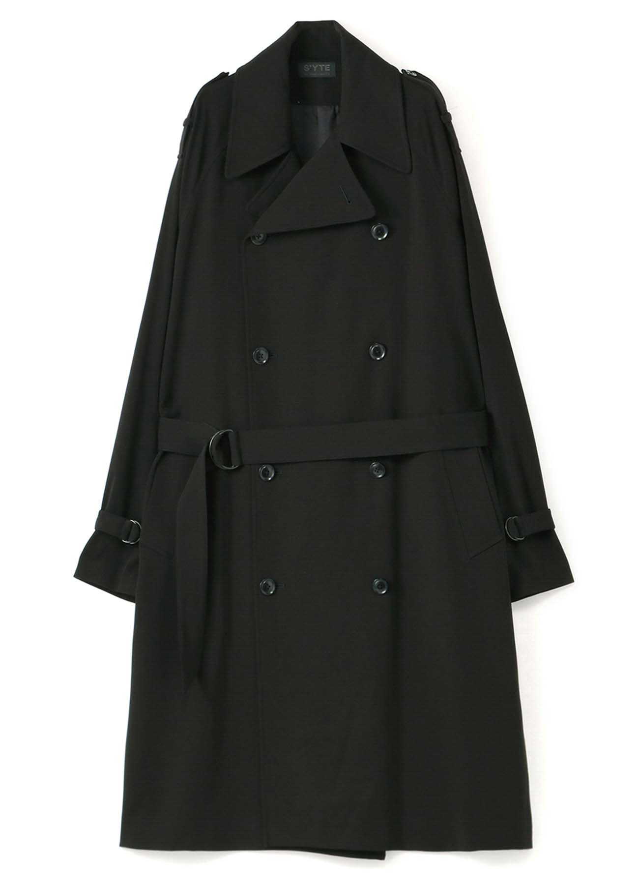 Pe/Rayon Gabardine Stretch Trench Coat