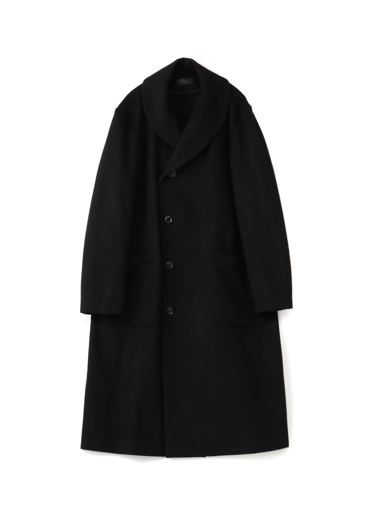 Wool /Ny Beaver Shawl Collar Semi-Double Coat