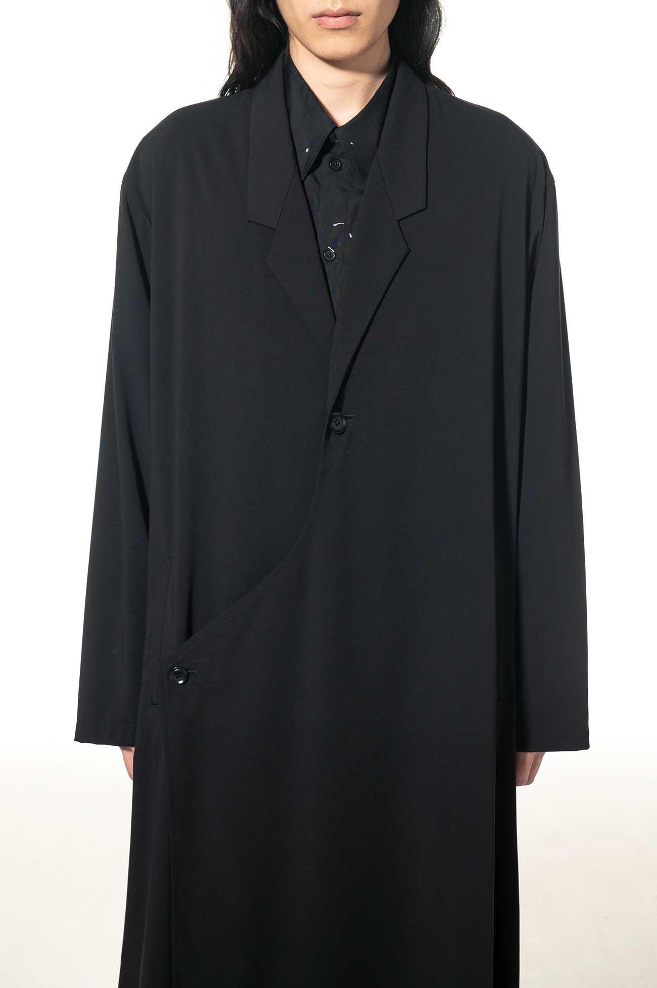 Pe/Rayon Gabardine Stretc Tailored Wrap Dress