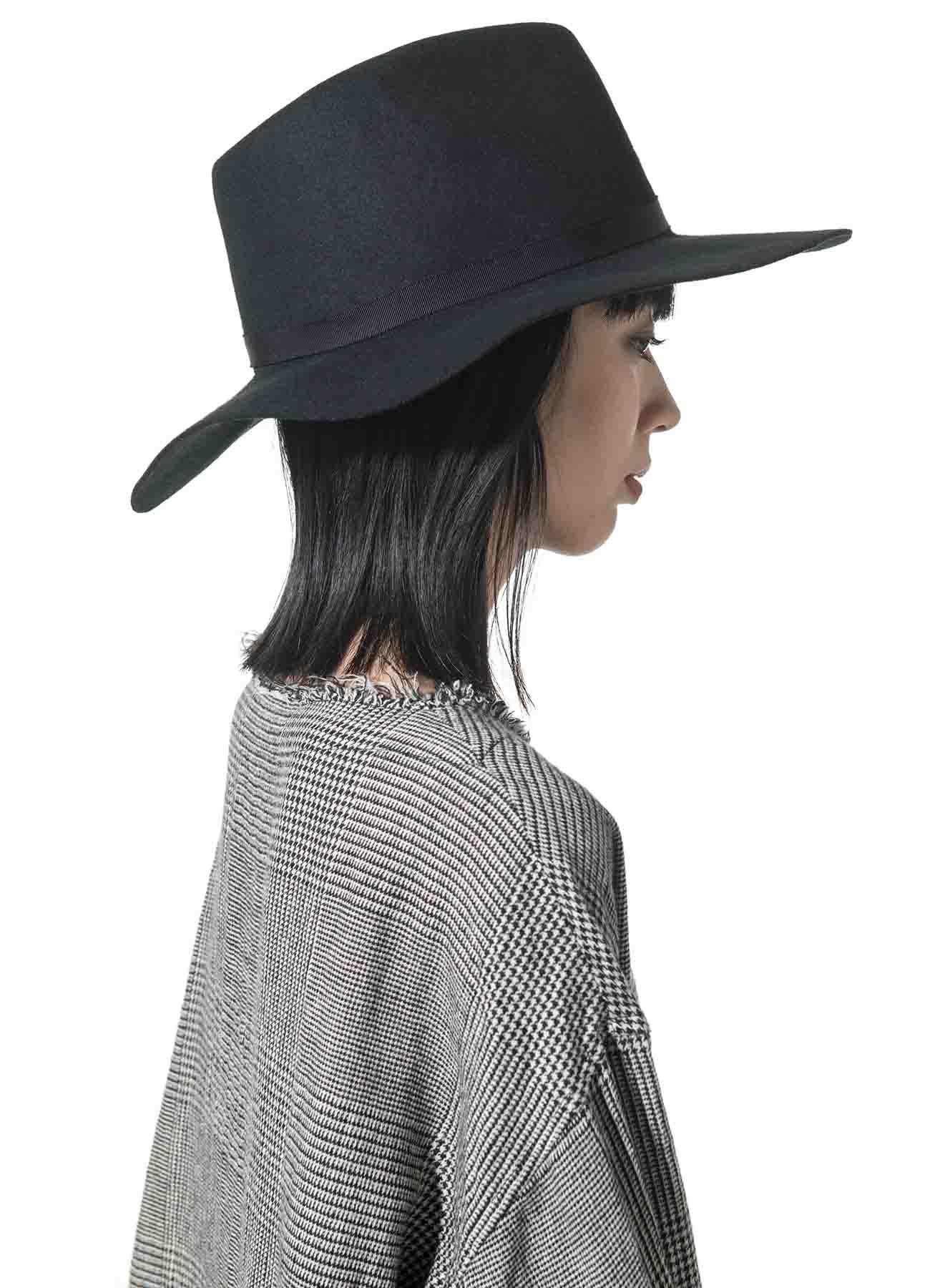 Wool Felt Long Brim Hat
