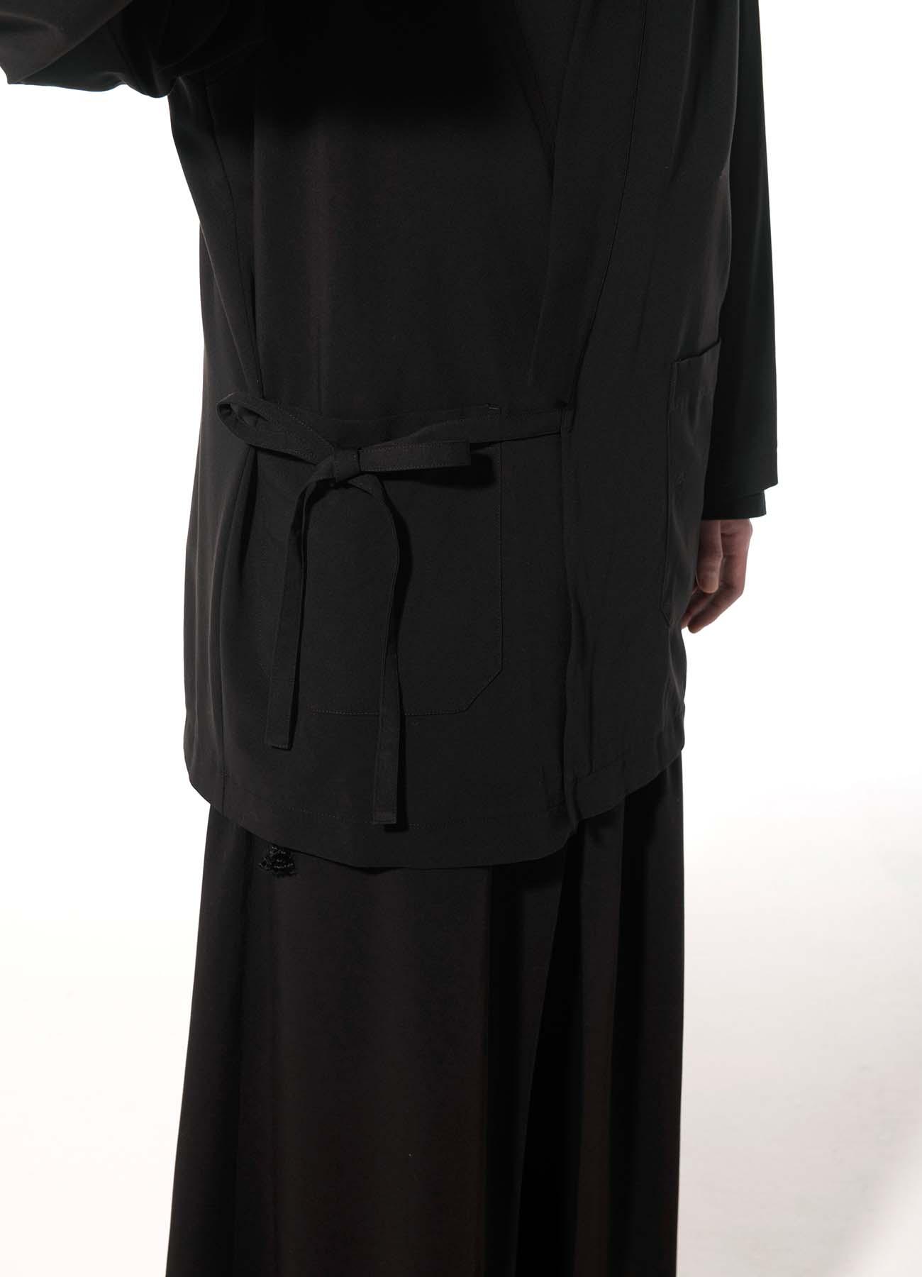 Pe/Rayon Gabardine Stretch Kimono Haori Jacket