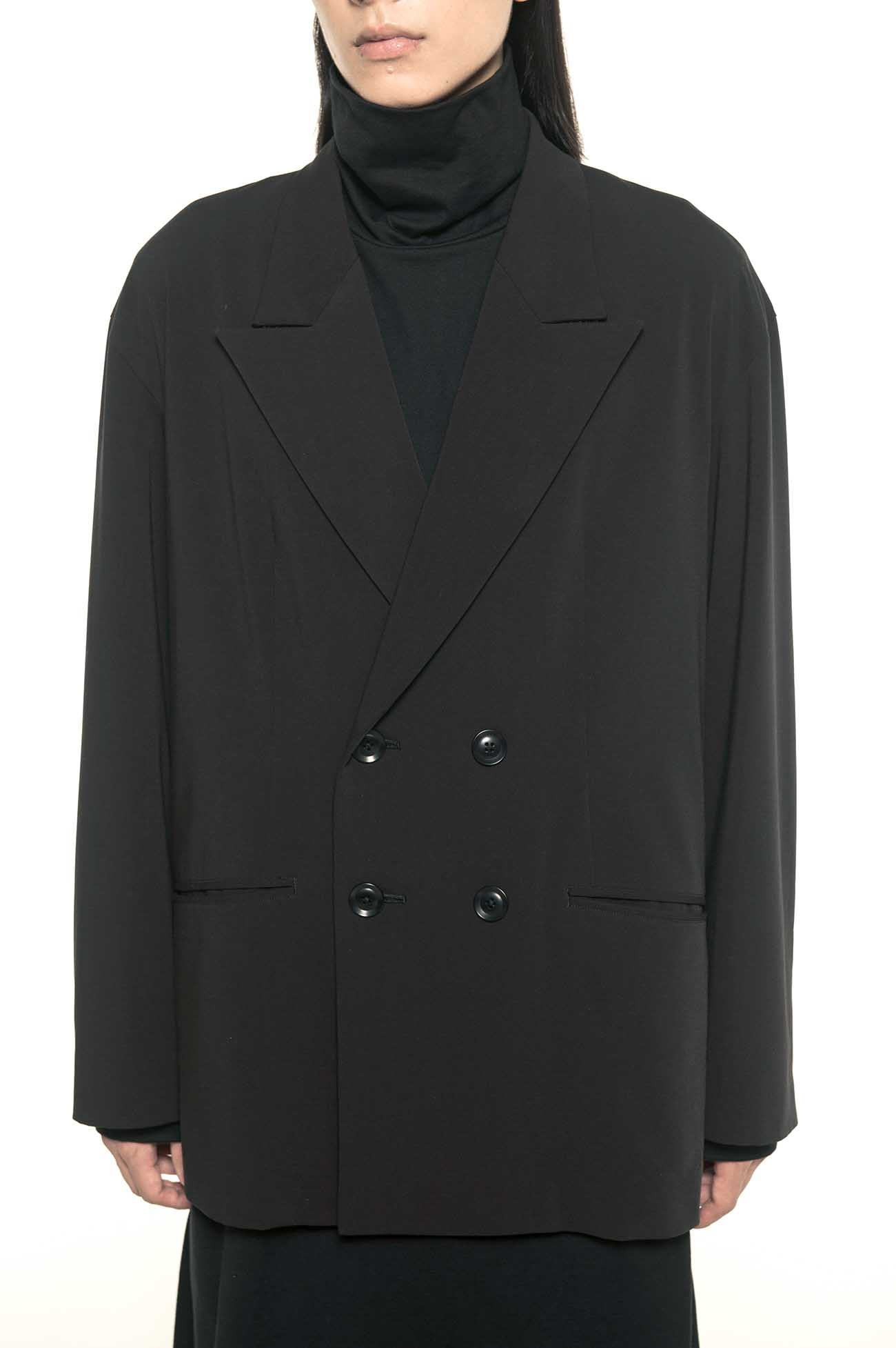 Pe/Rayon Gabardine Stretch 4BW Peaked Lapel Big Jacket