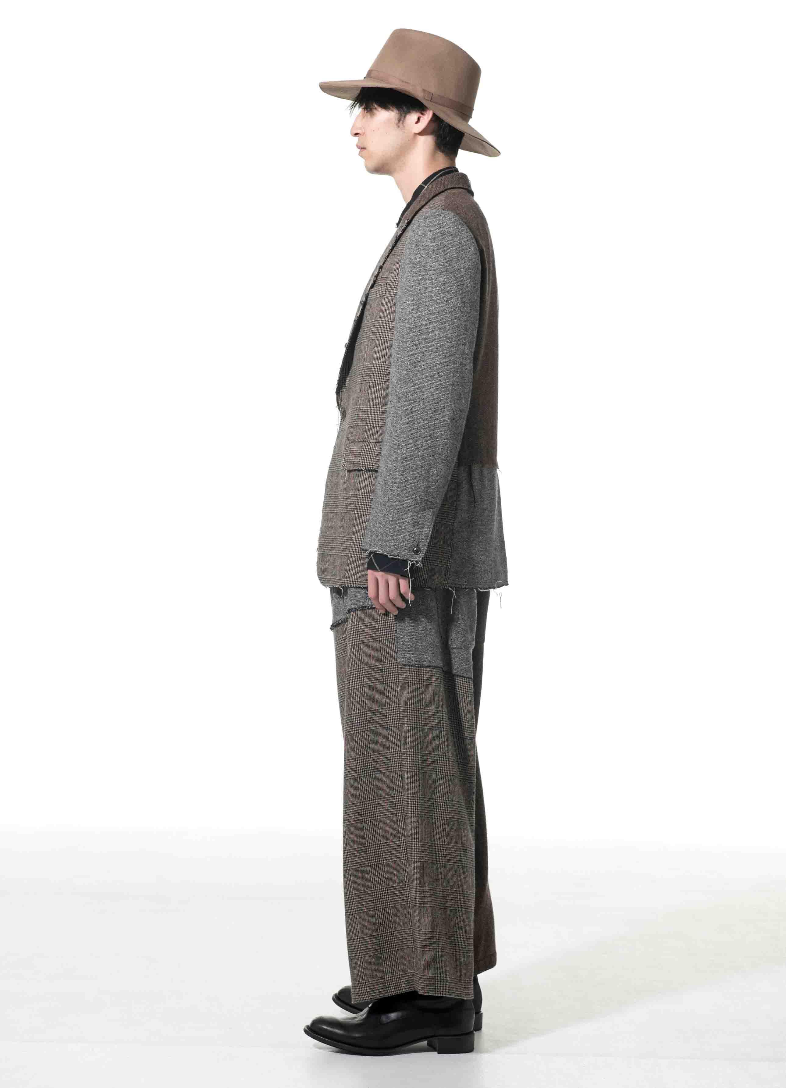 Crazy tweed Peak Lapel Jacket